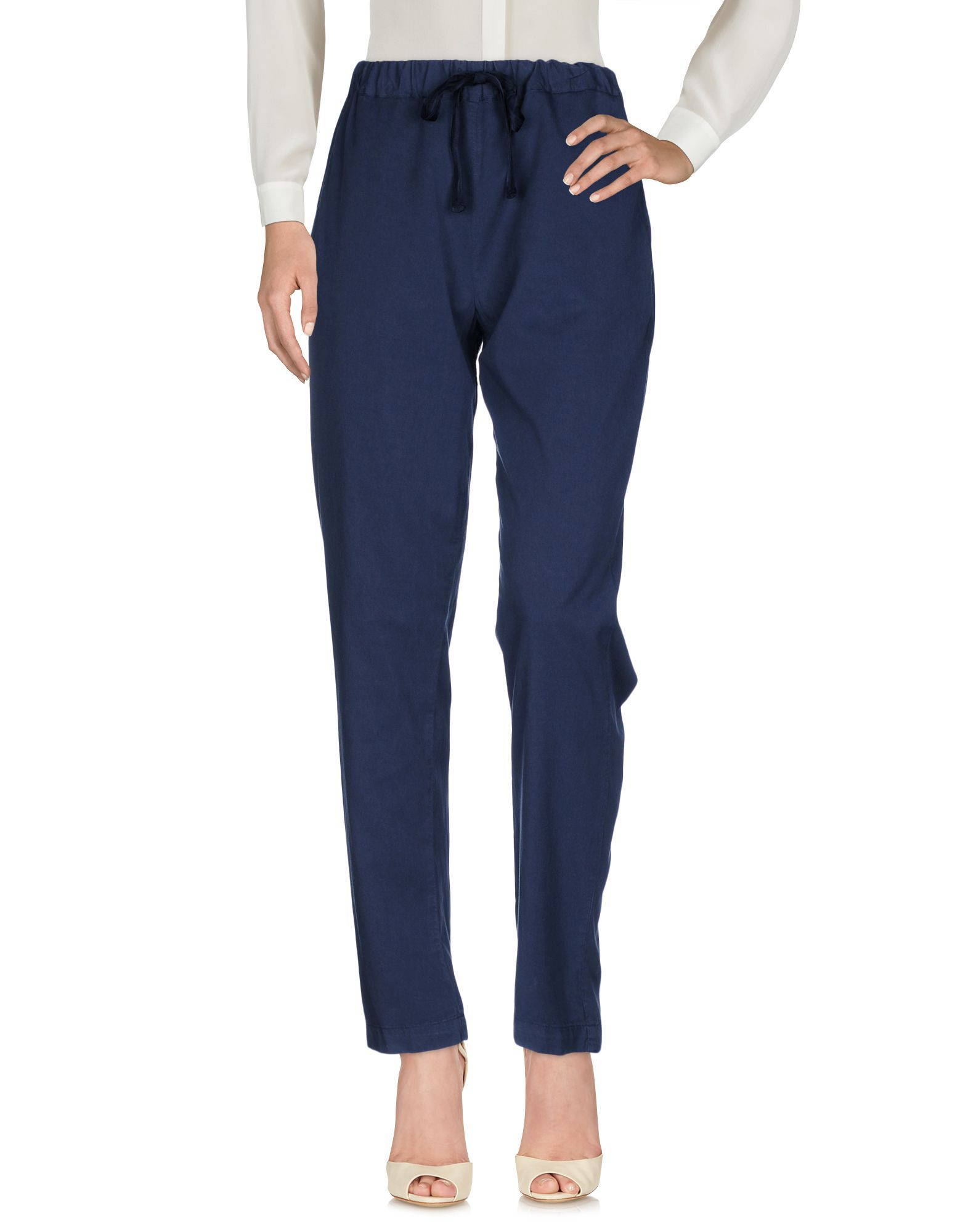 TROUSERS Semicouture Dark blue Woman Lyocell