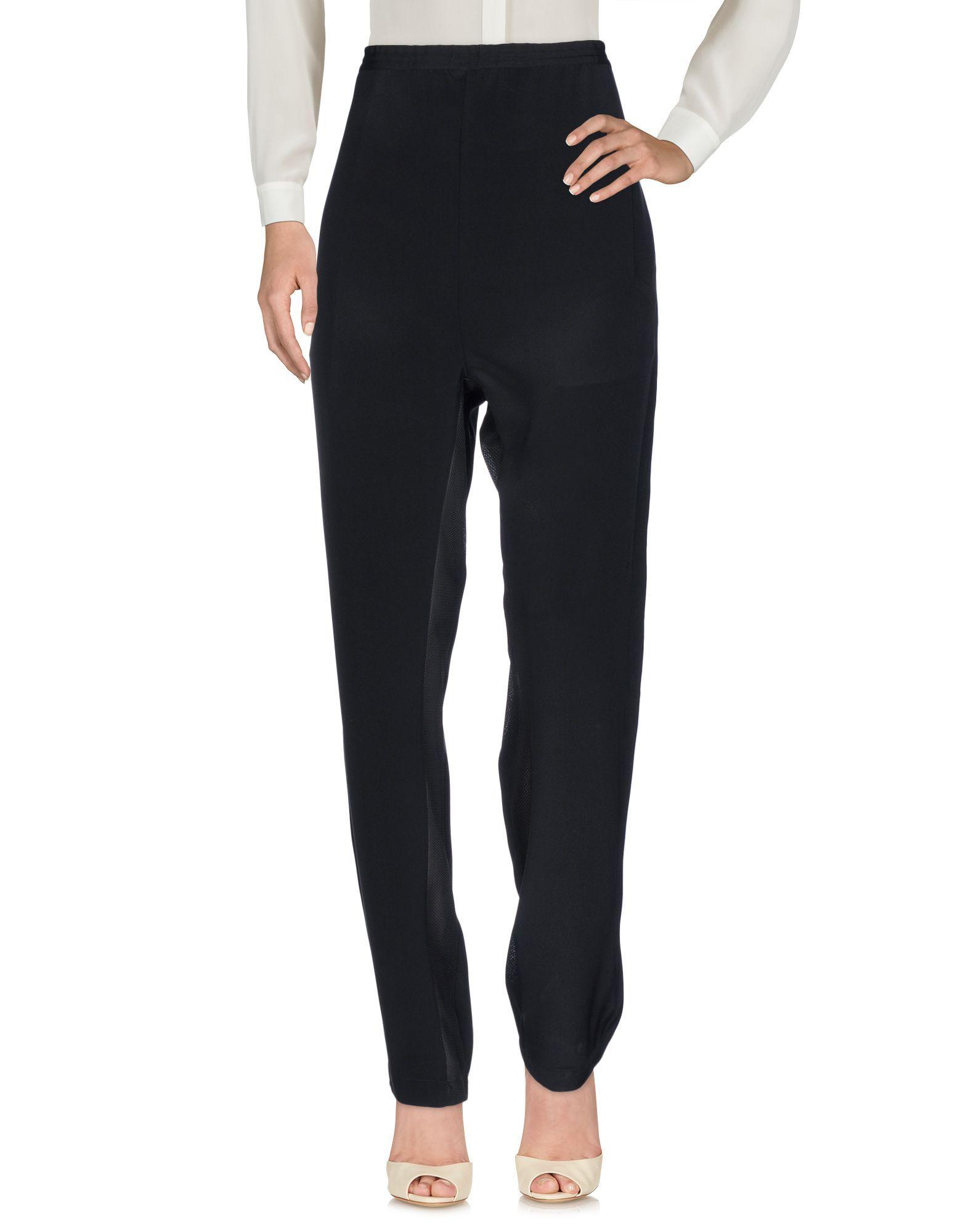 Golden Goose Deluxe Brand Black Silk Tapered Leg Trousers