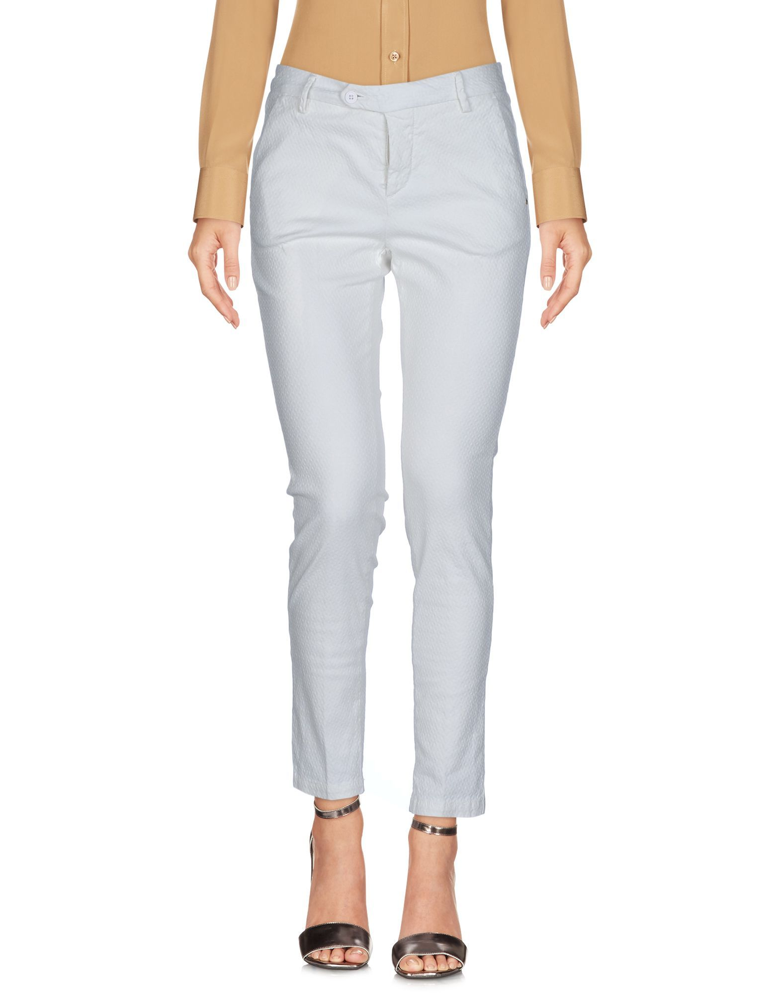 TROUSERS Michael Coal Ivory Woman Cotton