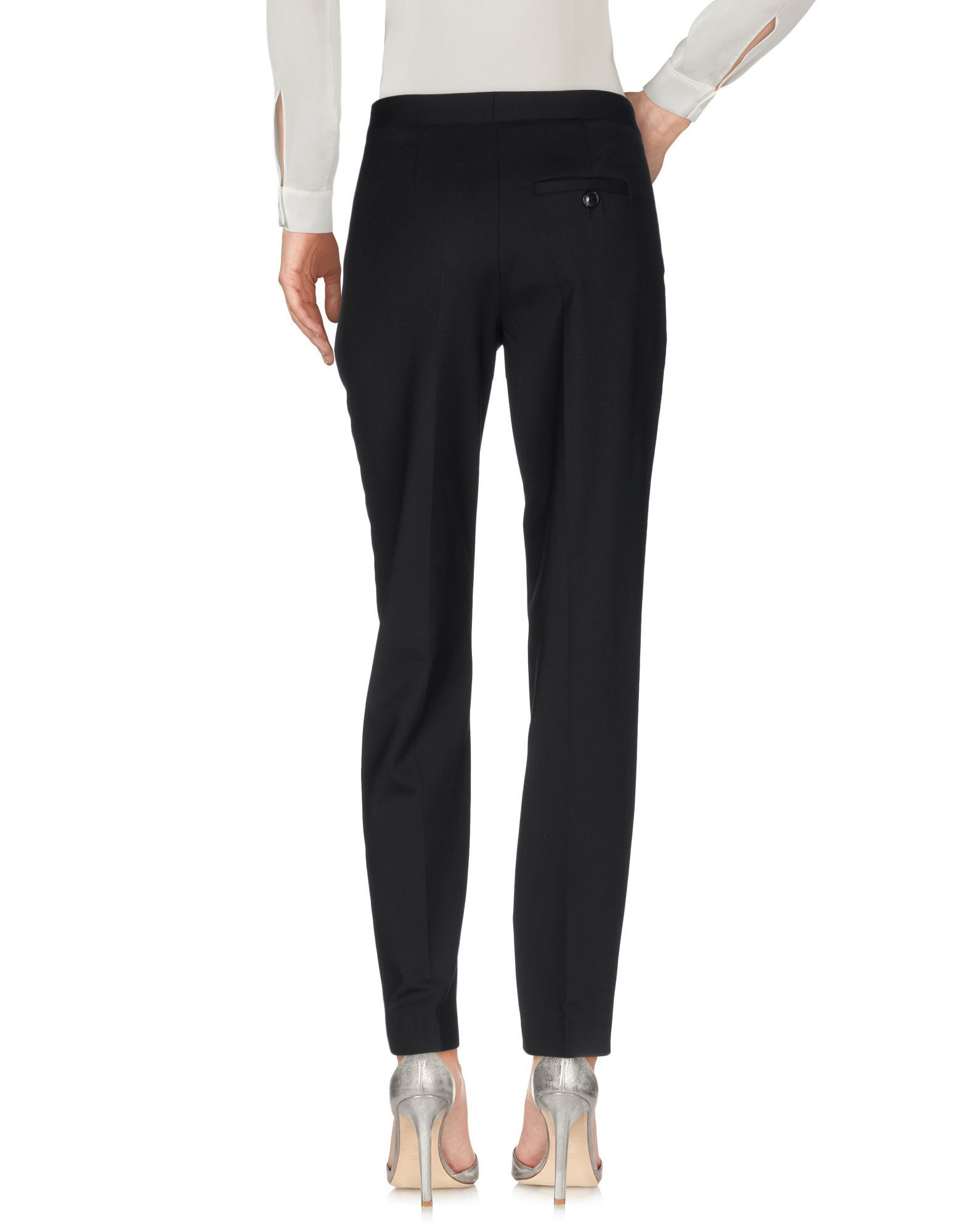 Boutique Moschino Black Virgin Wool Trousers