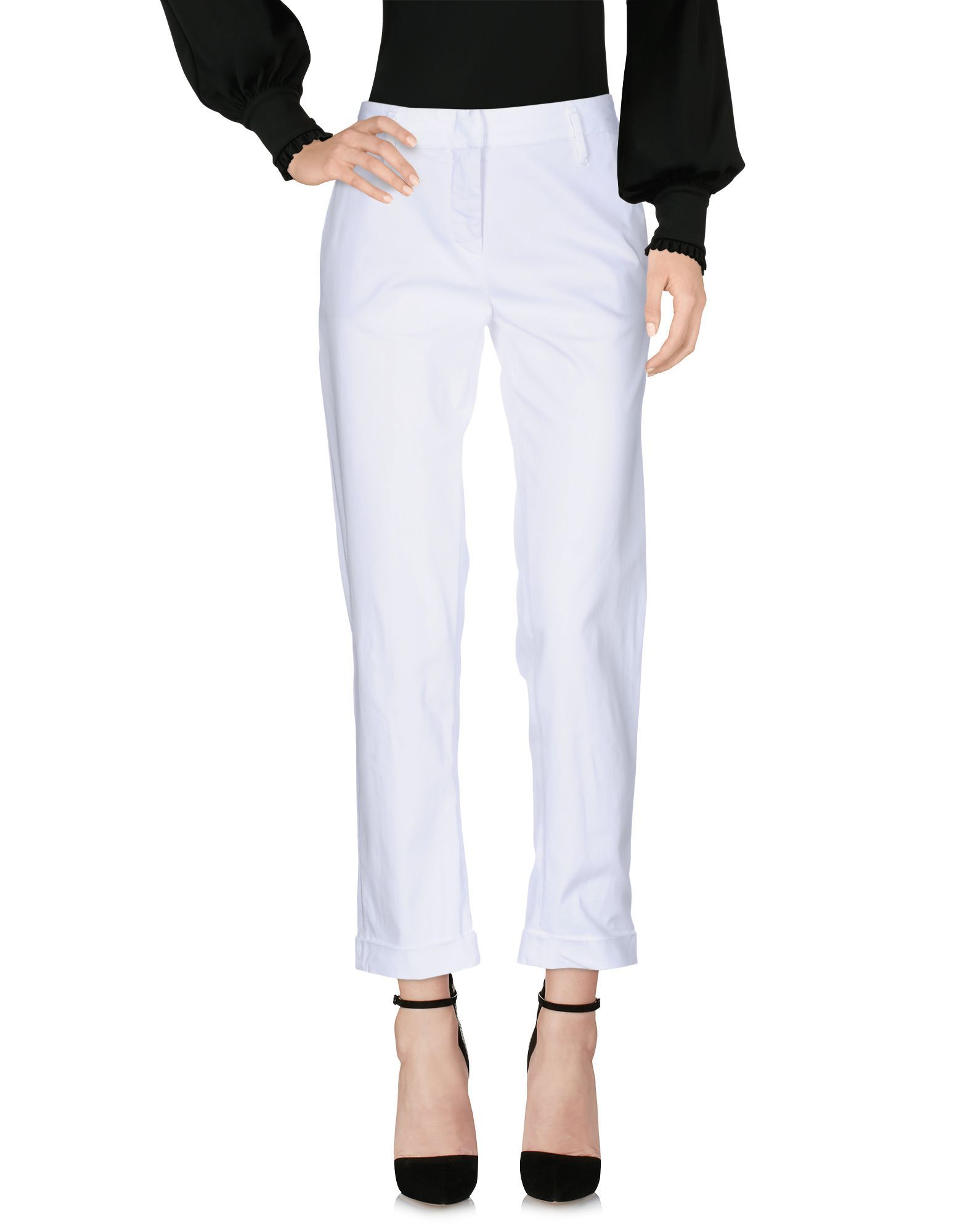 Aspesi White Cotton Chino Trousers
