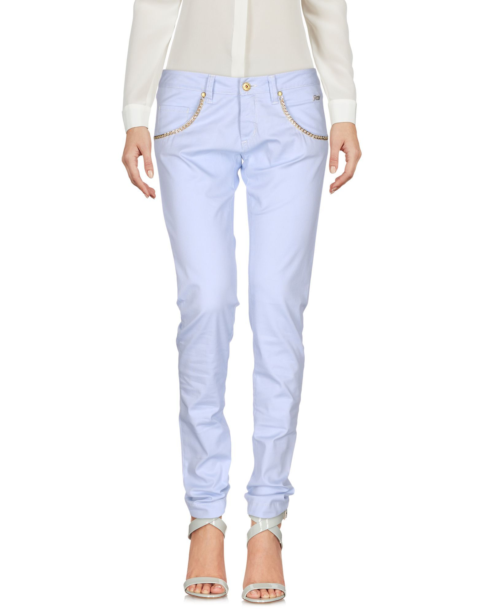 TROUSERS Ro� Roger'S Sky blue Woman Cotton