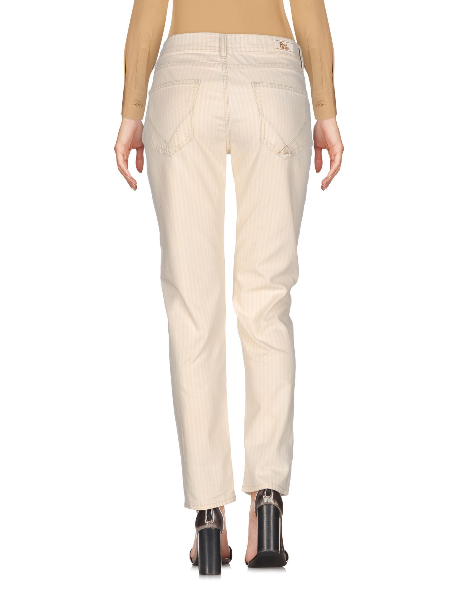 TROUSERS Ro� Roger'S Ivory Woman Cotton