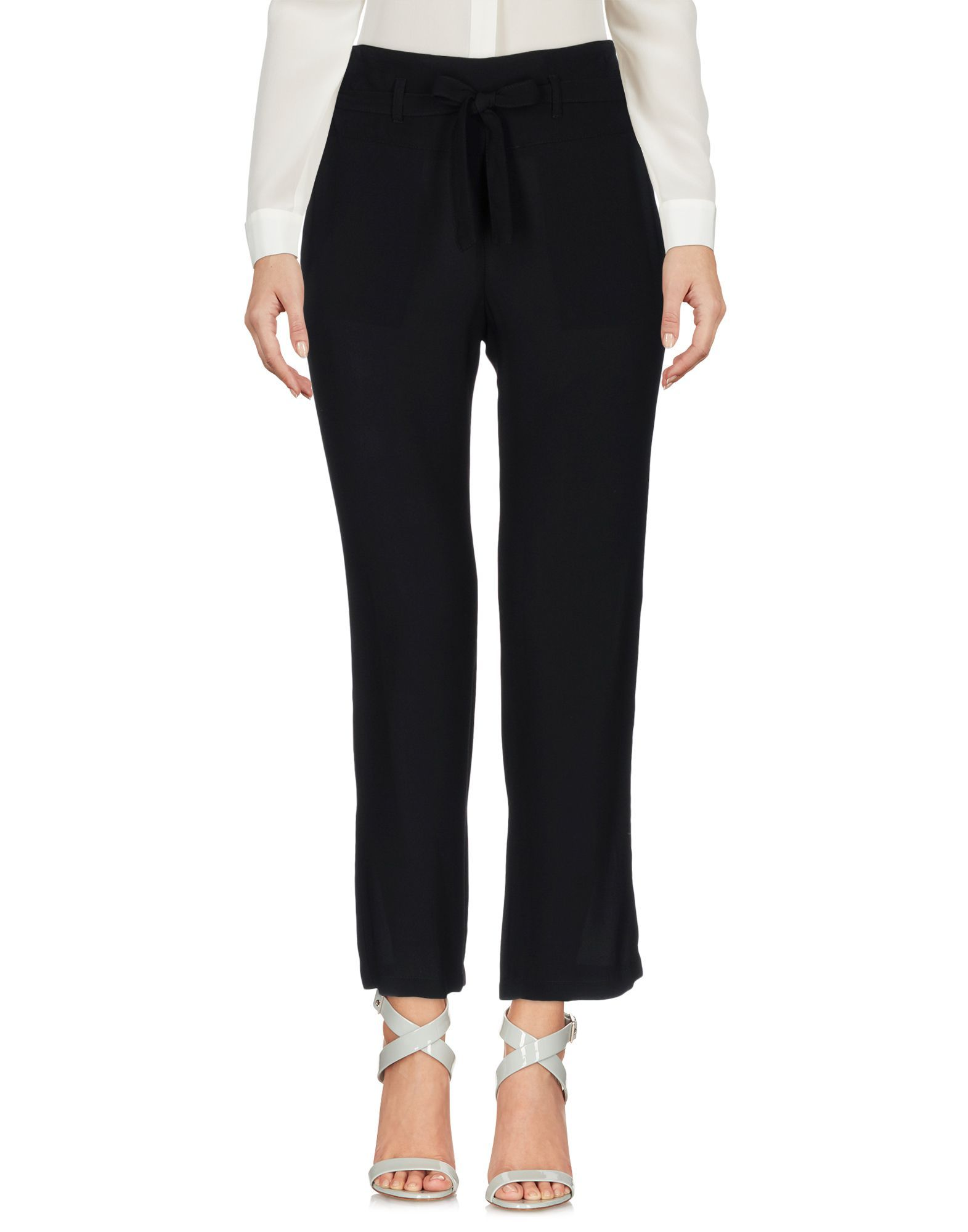 Atos Lombardini Black Crepe Tailored Trousers
