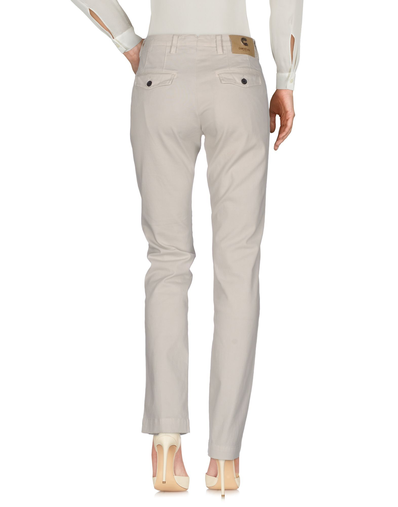 Trousers Camouflage Ar And J. Light Grey Women's Cotton