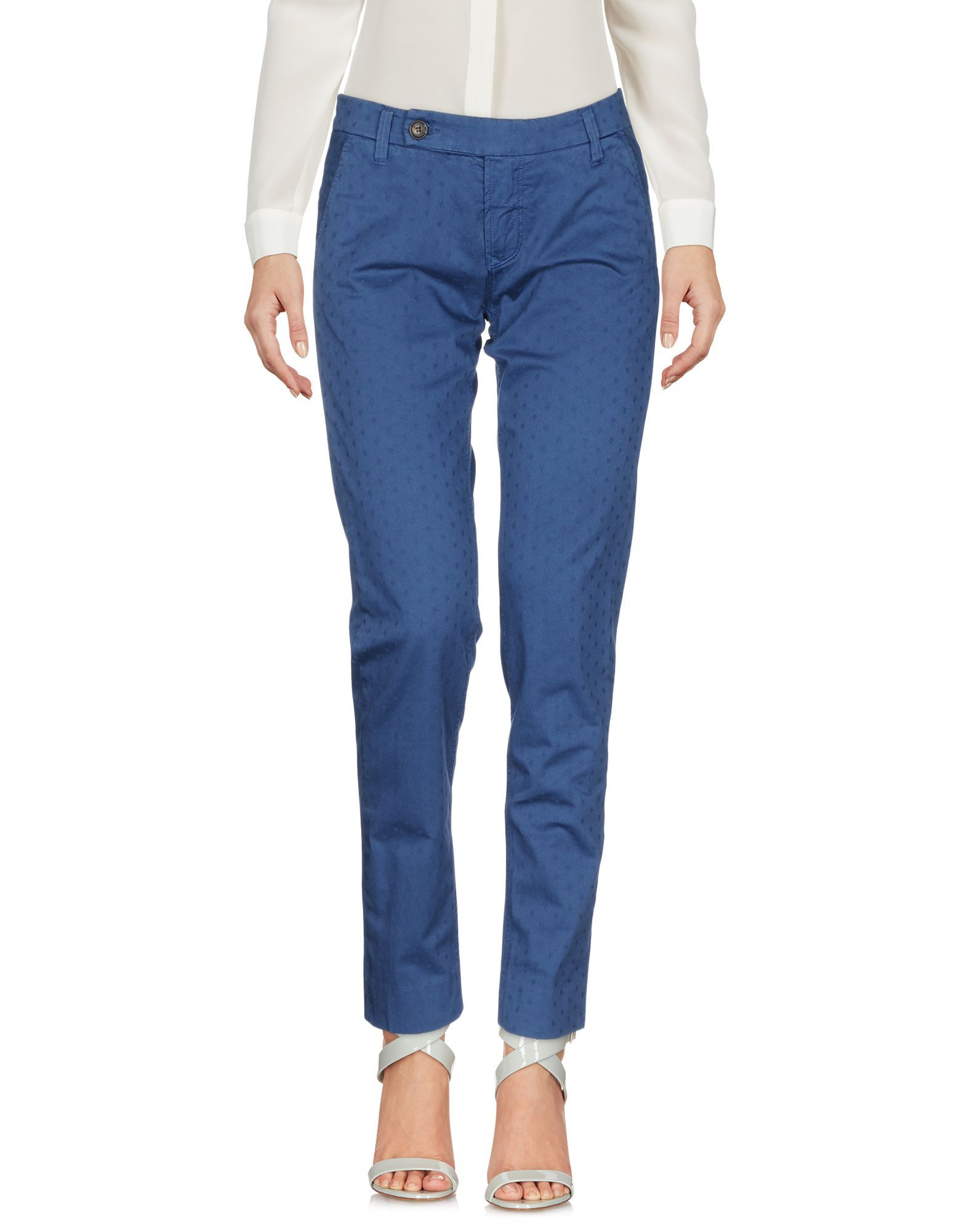 TROUSERS True Nyc� Pastel blue Woman Cotton