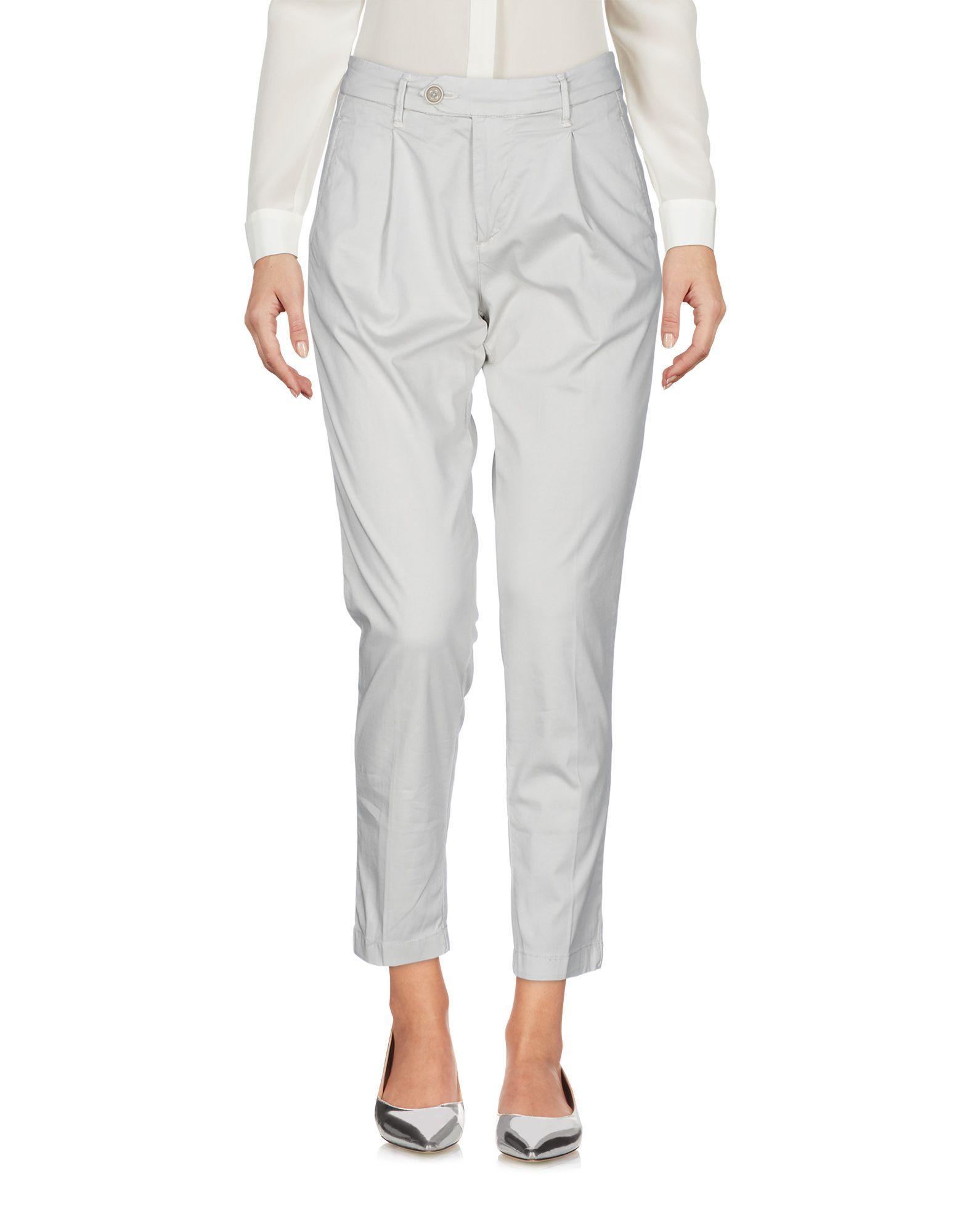 TROUSERS Zero Zero Grey Woman Cotton