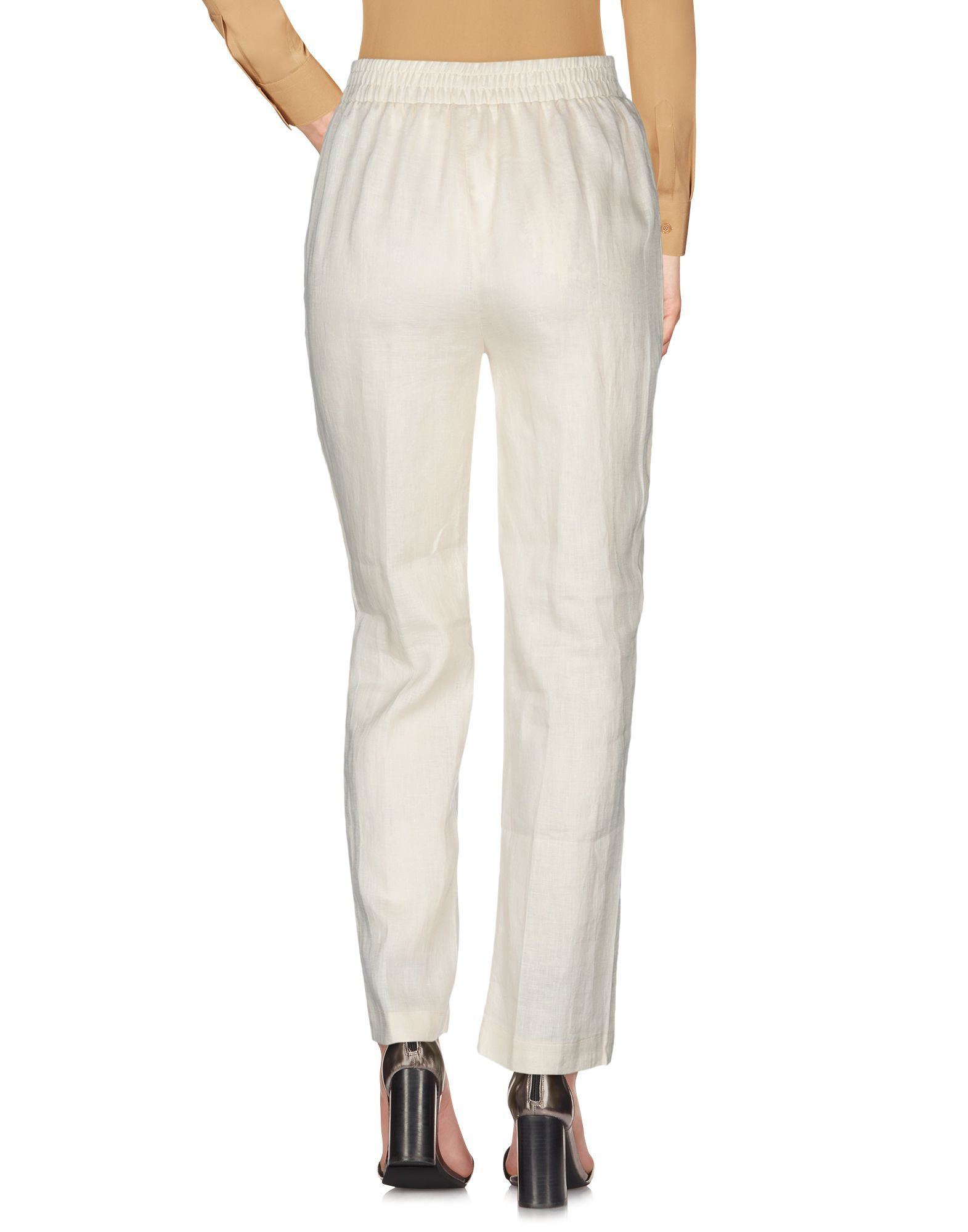 Trousers At.P.Co Ivory Women's Linen