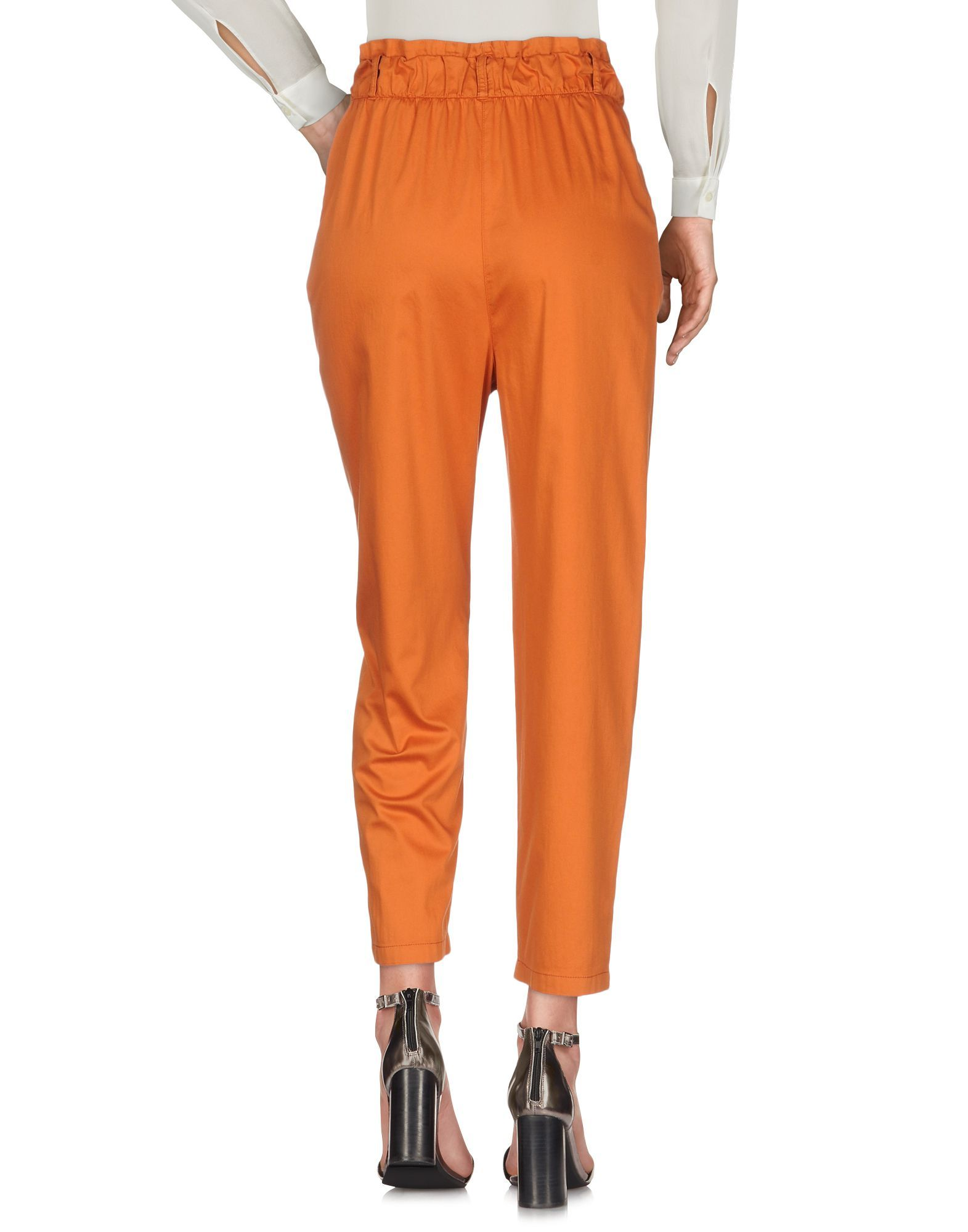 TROUSERS Woman Atos Lombardini Orange Cotton