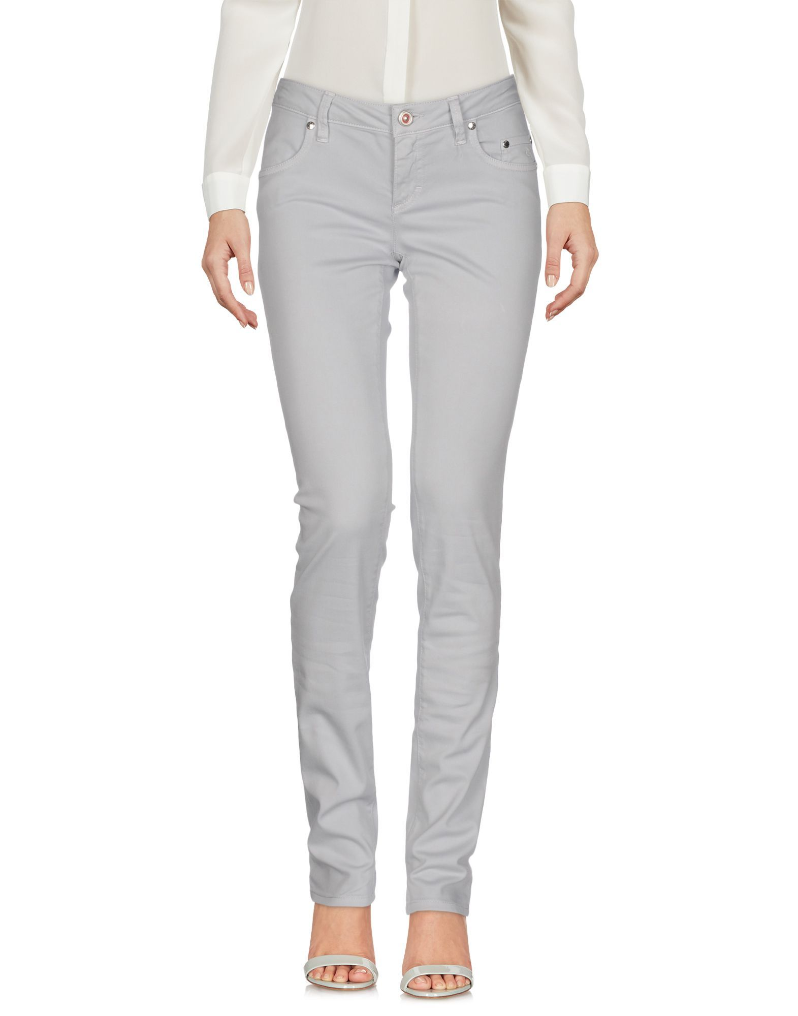 TROUSERS Siviglia Light grey Woman Cotton