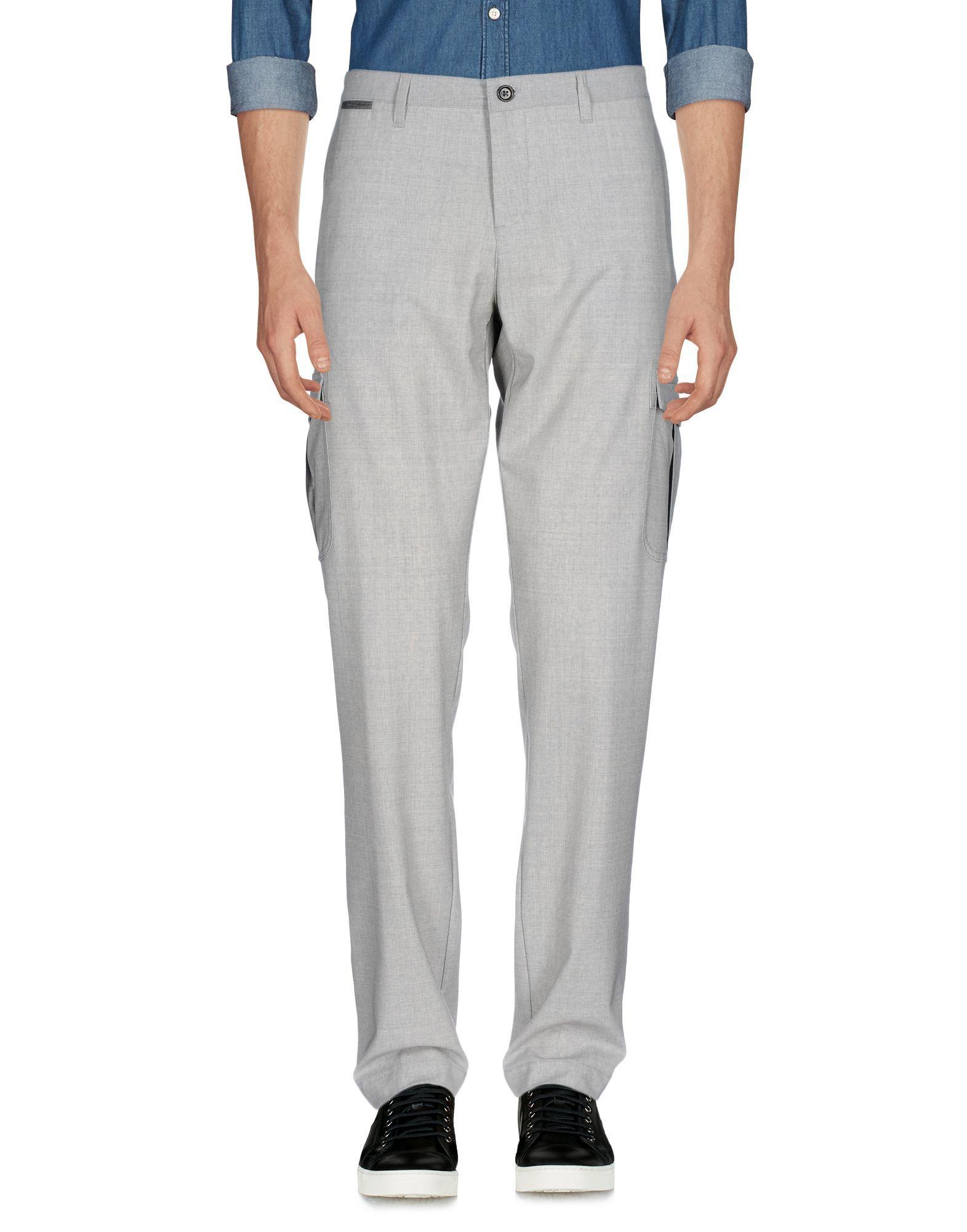 TROUSERS Eleventy Light grey Man Wool