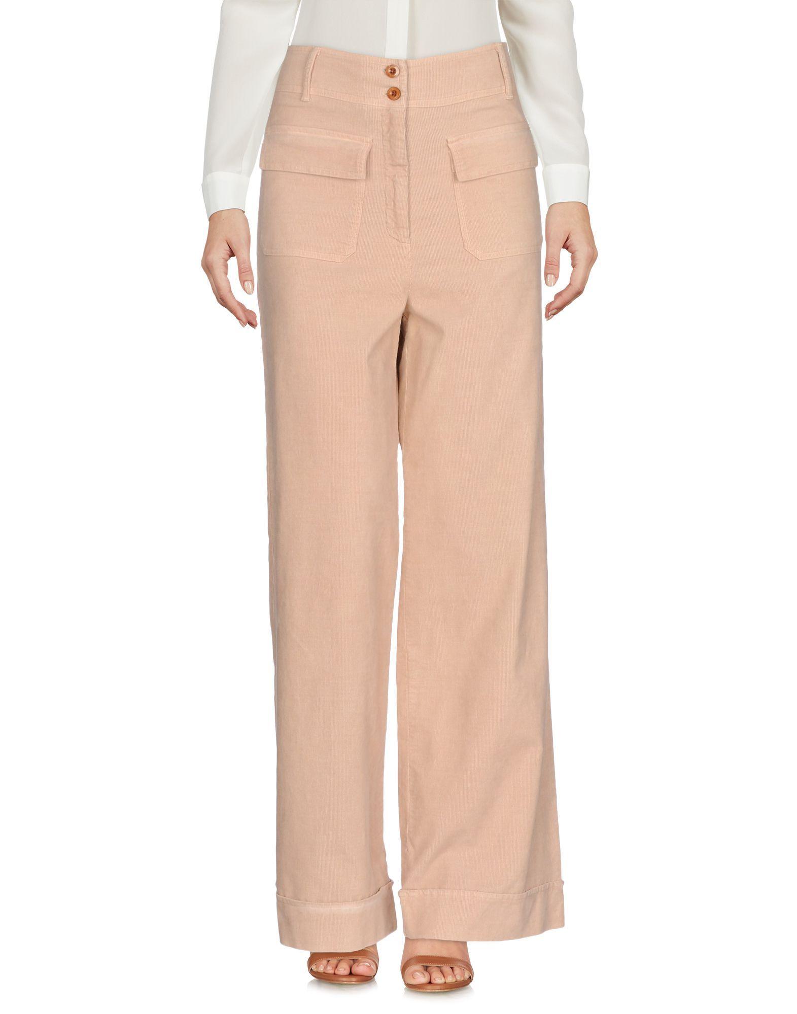 Sessun Sand Cotton Wide Leg Trousers