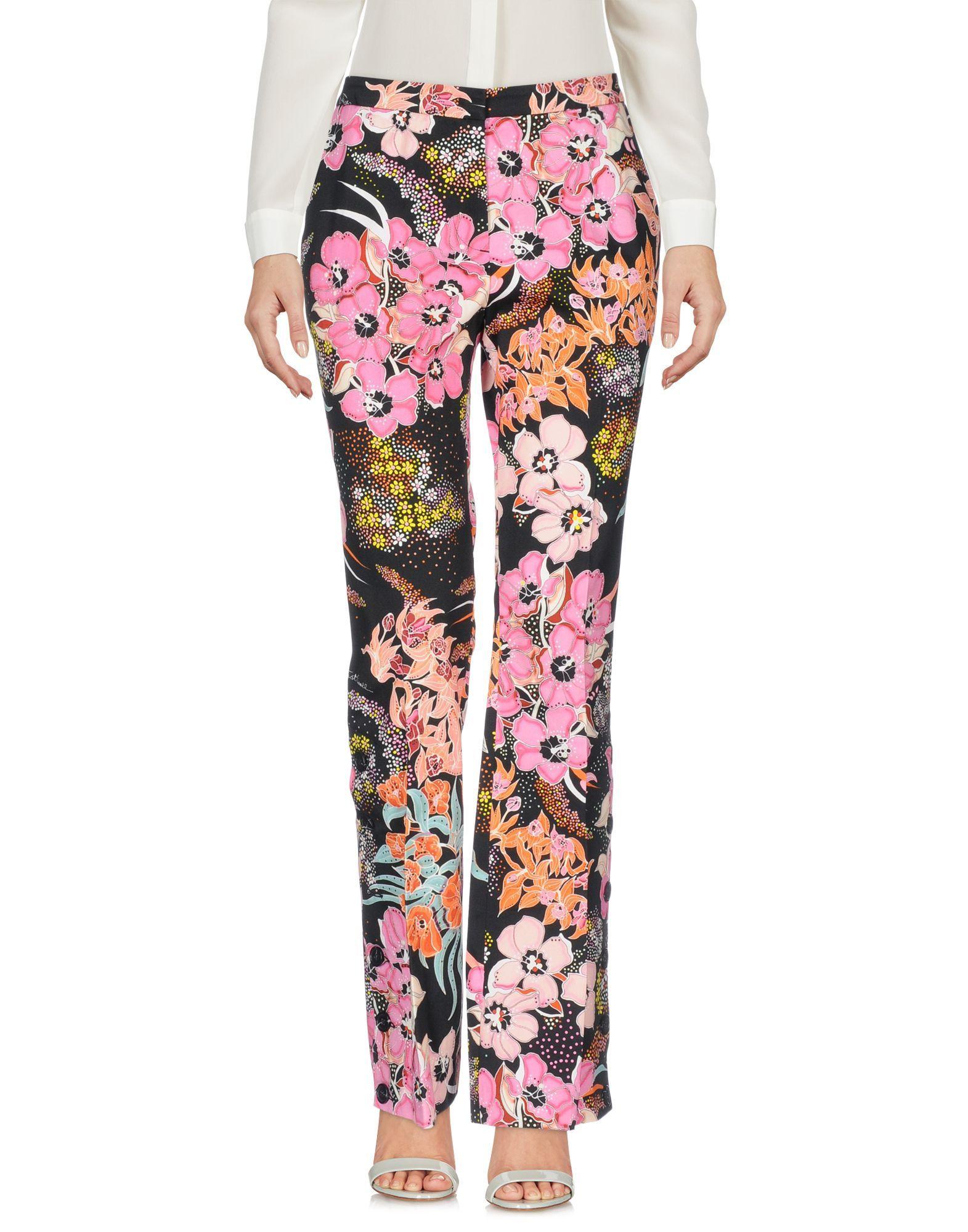 Just Cavalli Black Print Cotton Trousers
