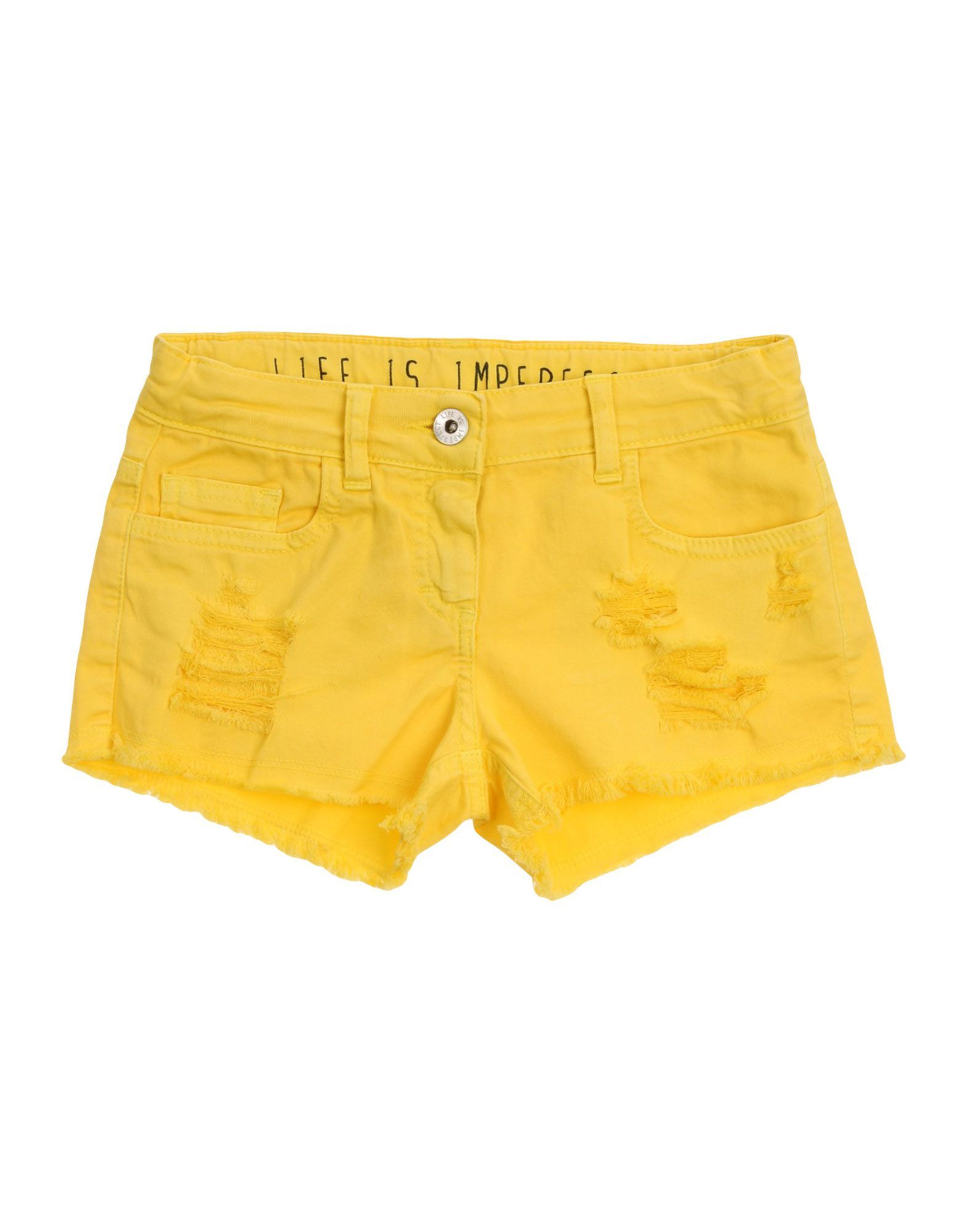 TROUSERS !M?Erfect Yellow Girl Cotton