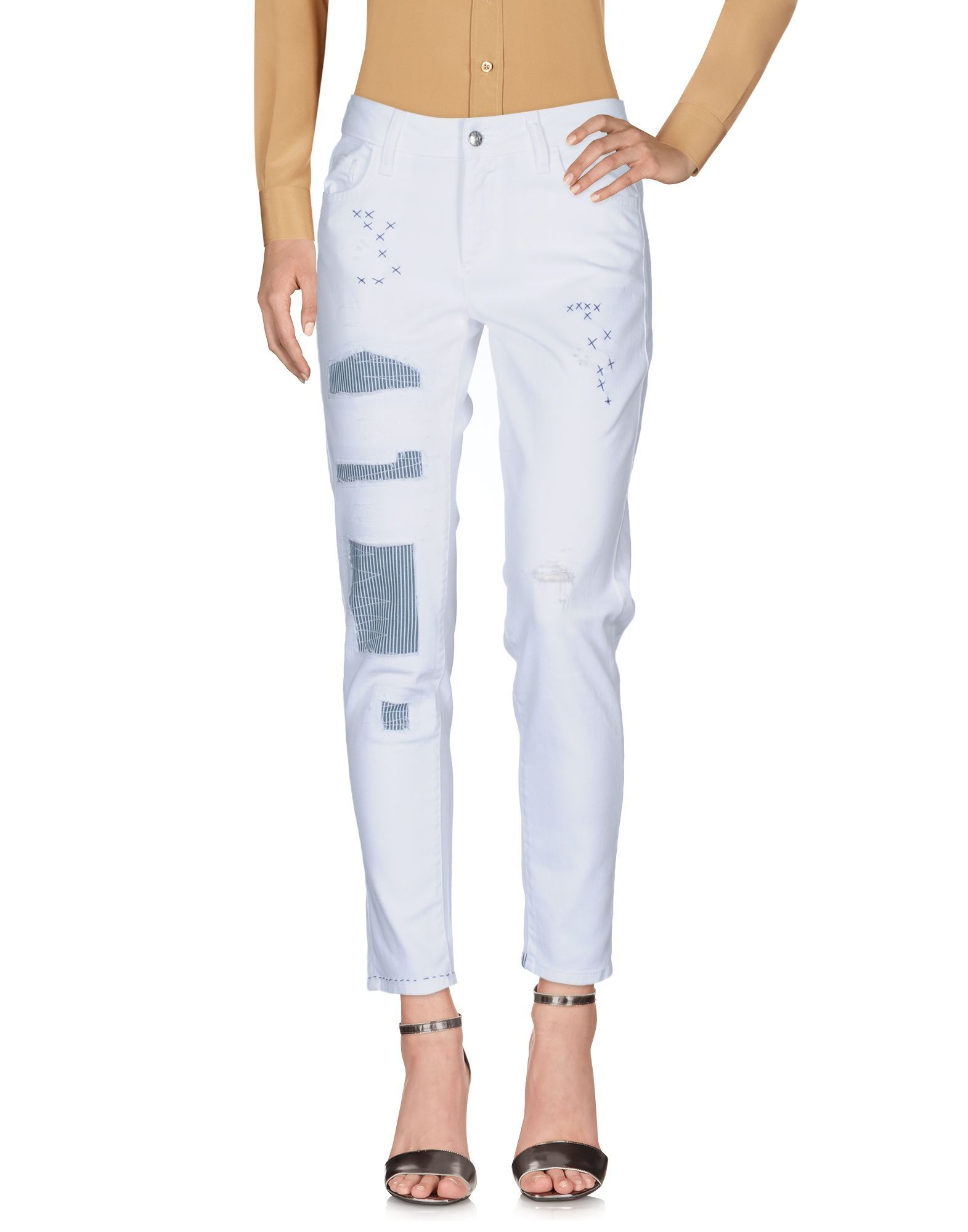 TROUSERS Shaft White Woman Cotton
