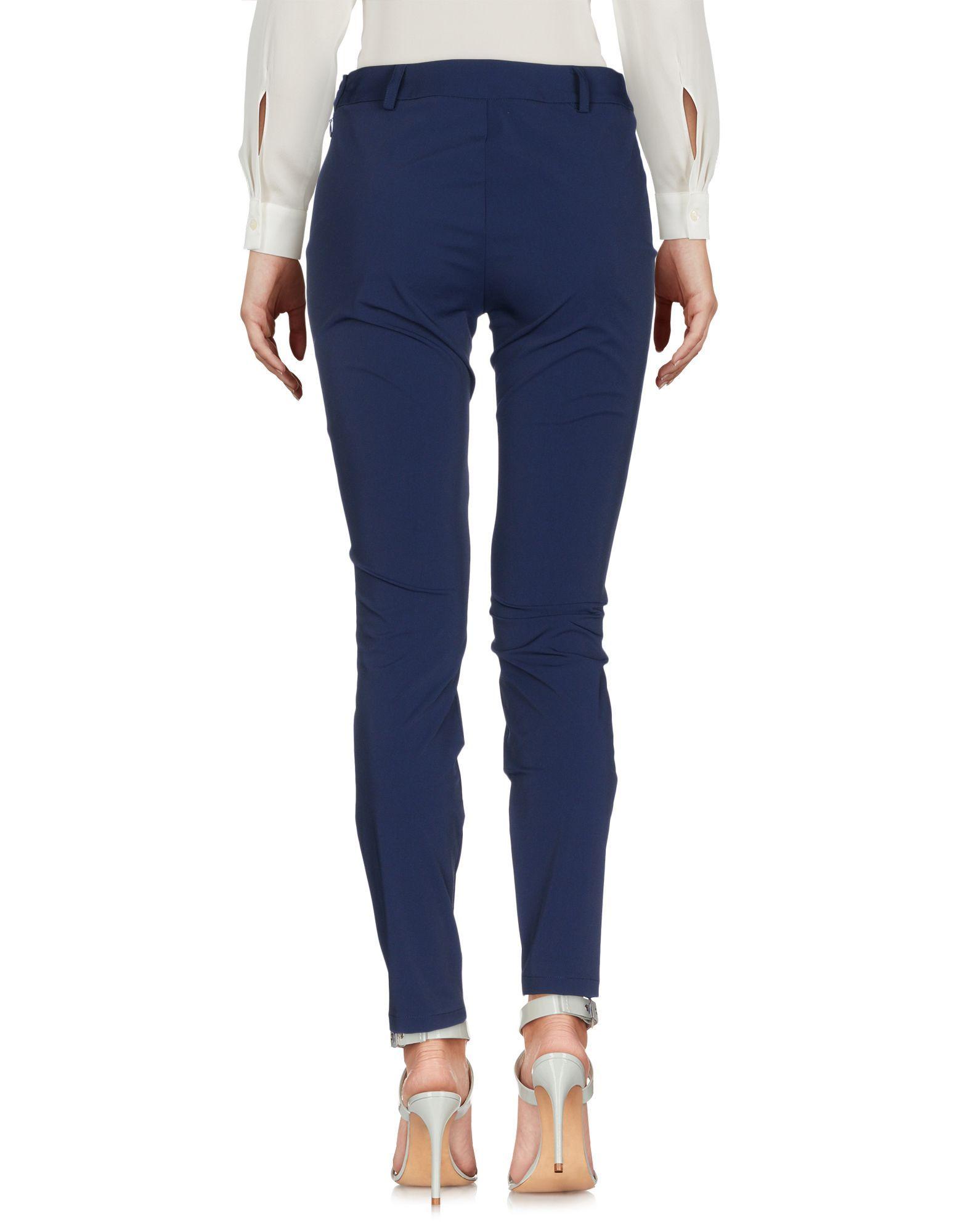 Cristinaeffe Dark Blue Tapered Leg Trousers