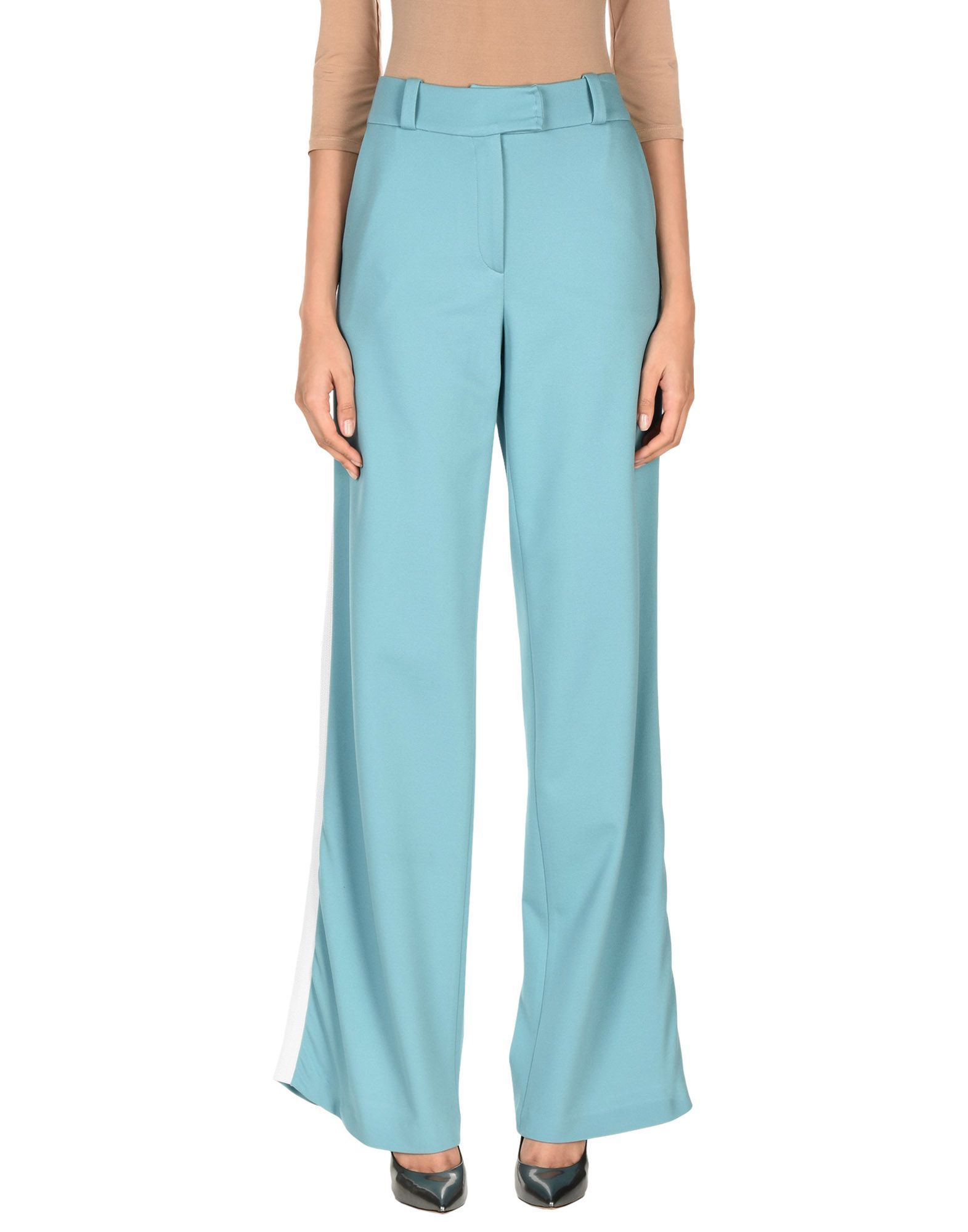TROUSERS Maison Ullens Turquoise Woman Viscose