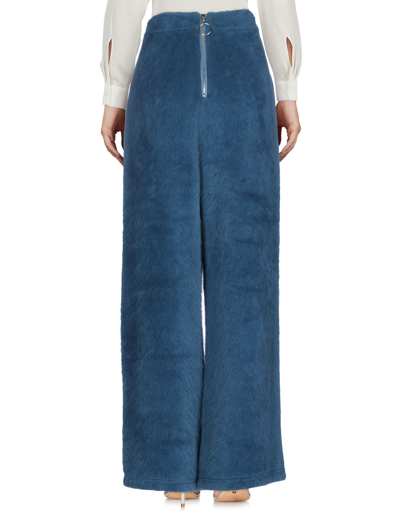Trousers Weili Zheng Slate Blue Women's Acrilyc