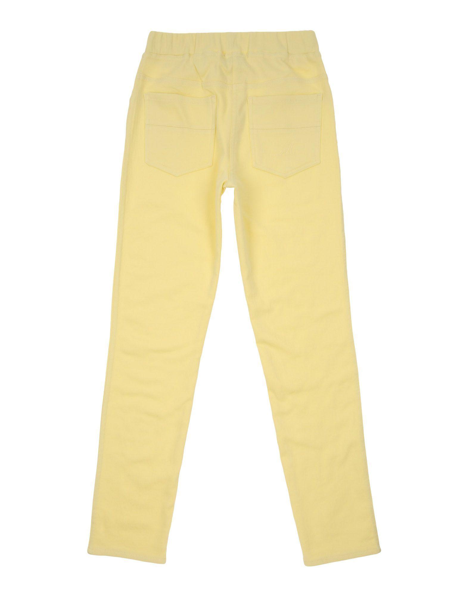 TROUSERS Monnalisa Yellow Girl Cotton