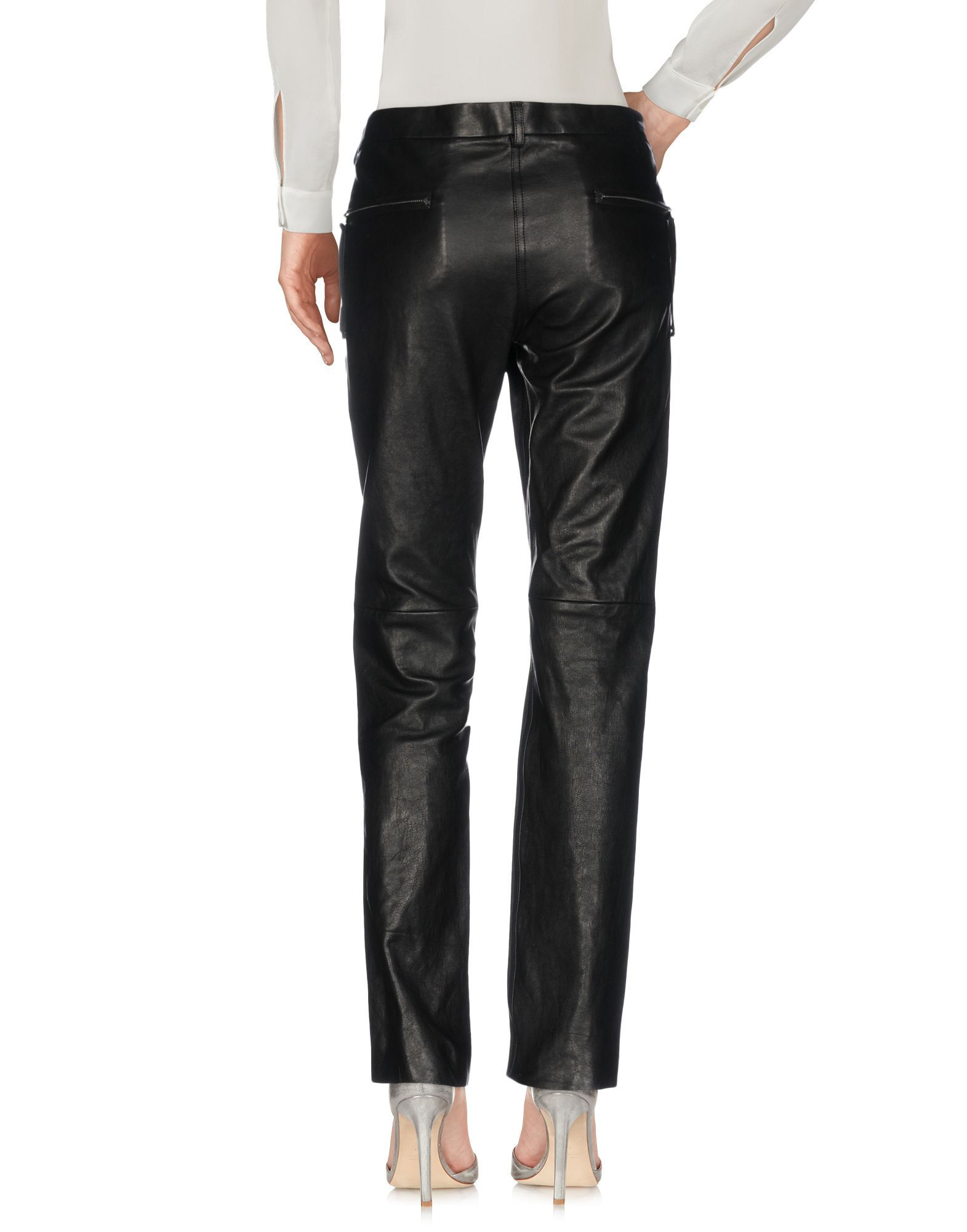 Isabel Marant Black Lambskin Leather Trousers