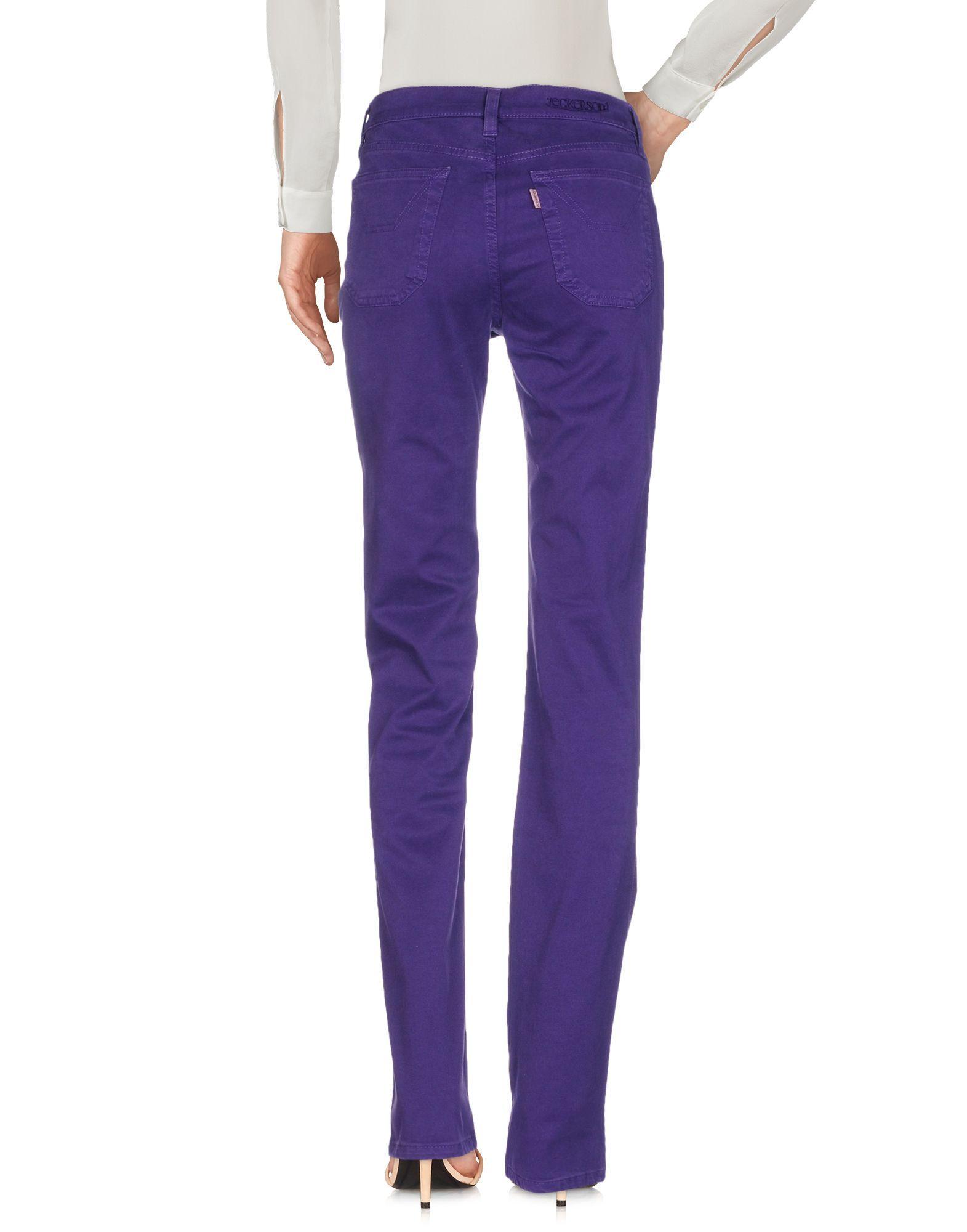 TROUSERS Jeckerson Purple Woman Cotton