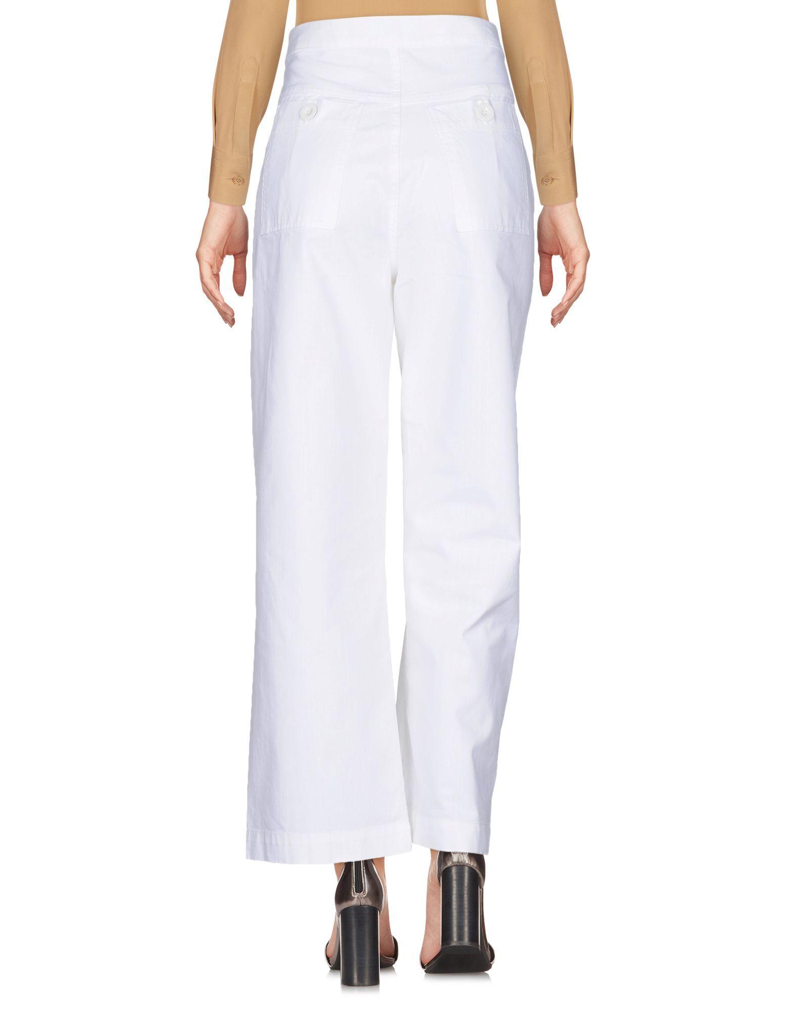 M.I.H Jeans White Cotton Wide Leg Trousers
