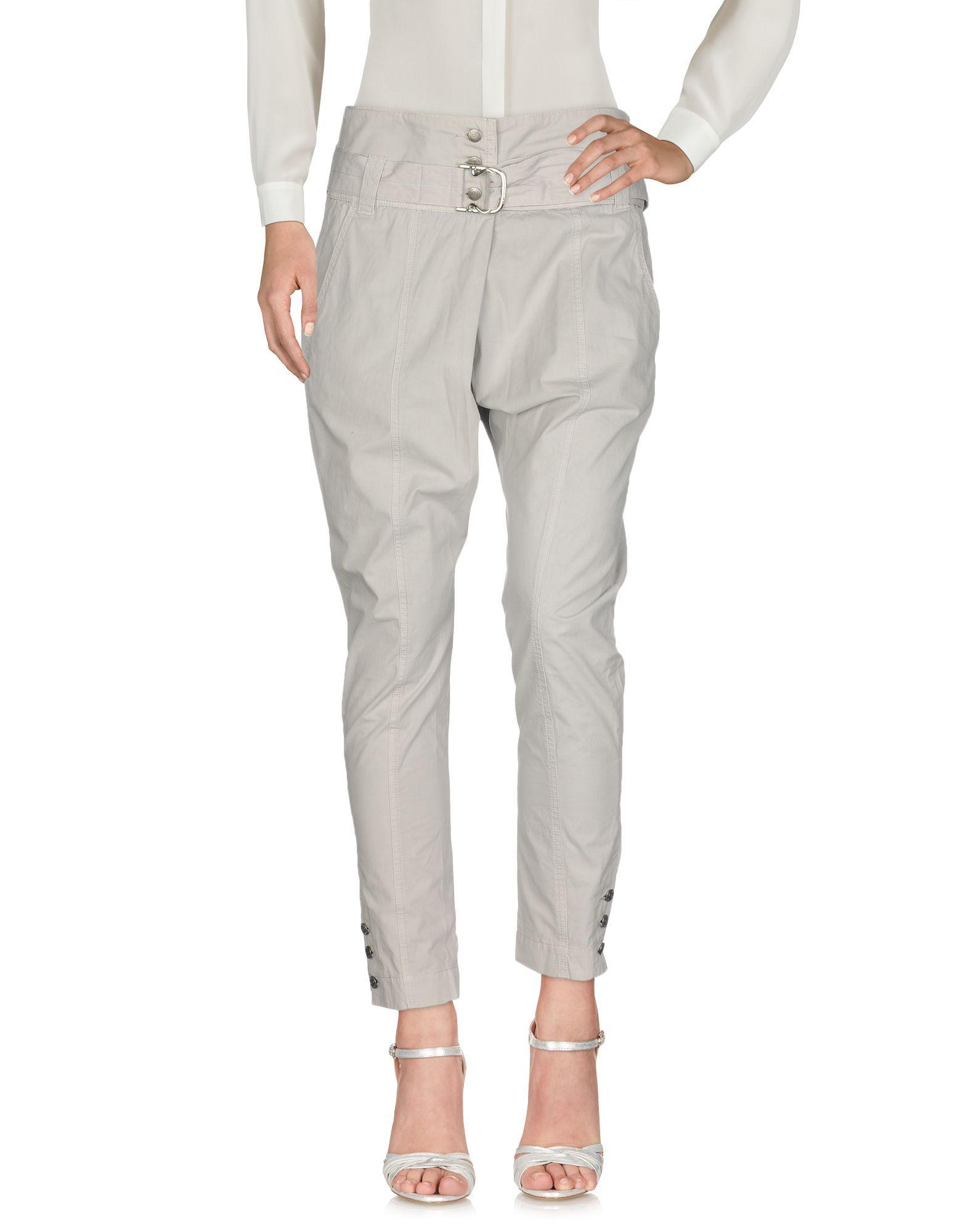 TROUSERS Calvin Klein Dove grey Woman Cotton