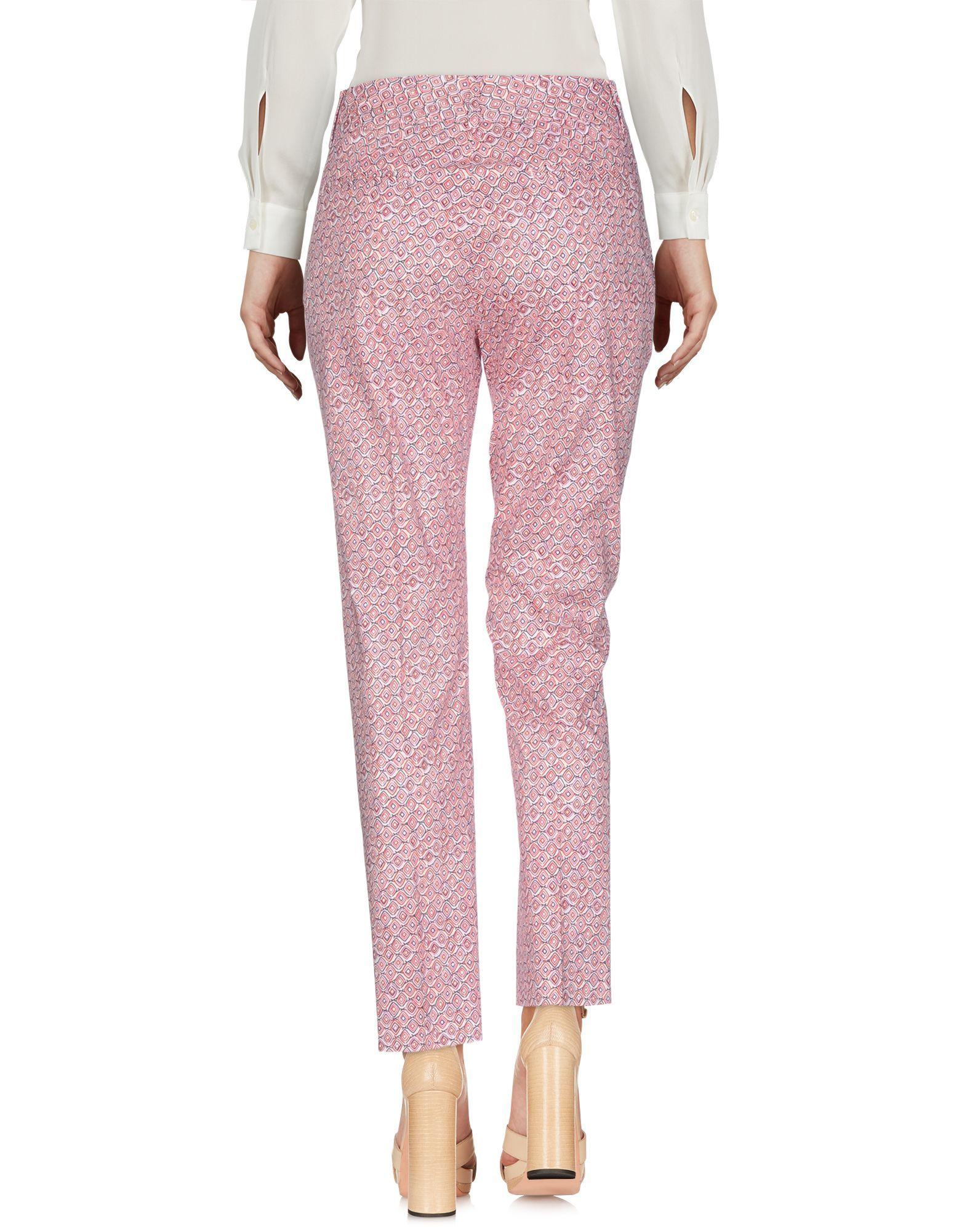Trousers Piazza Sempione Red Women's Cotton