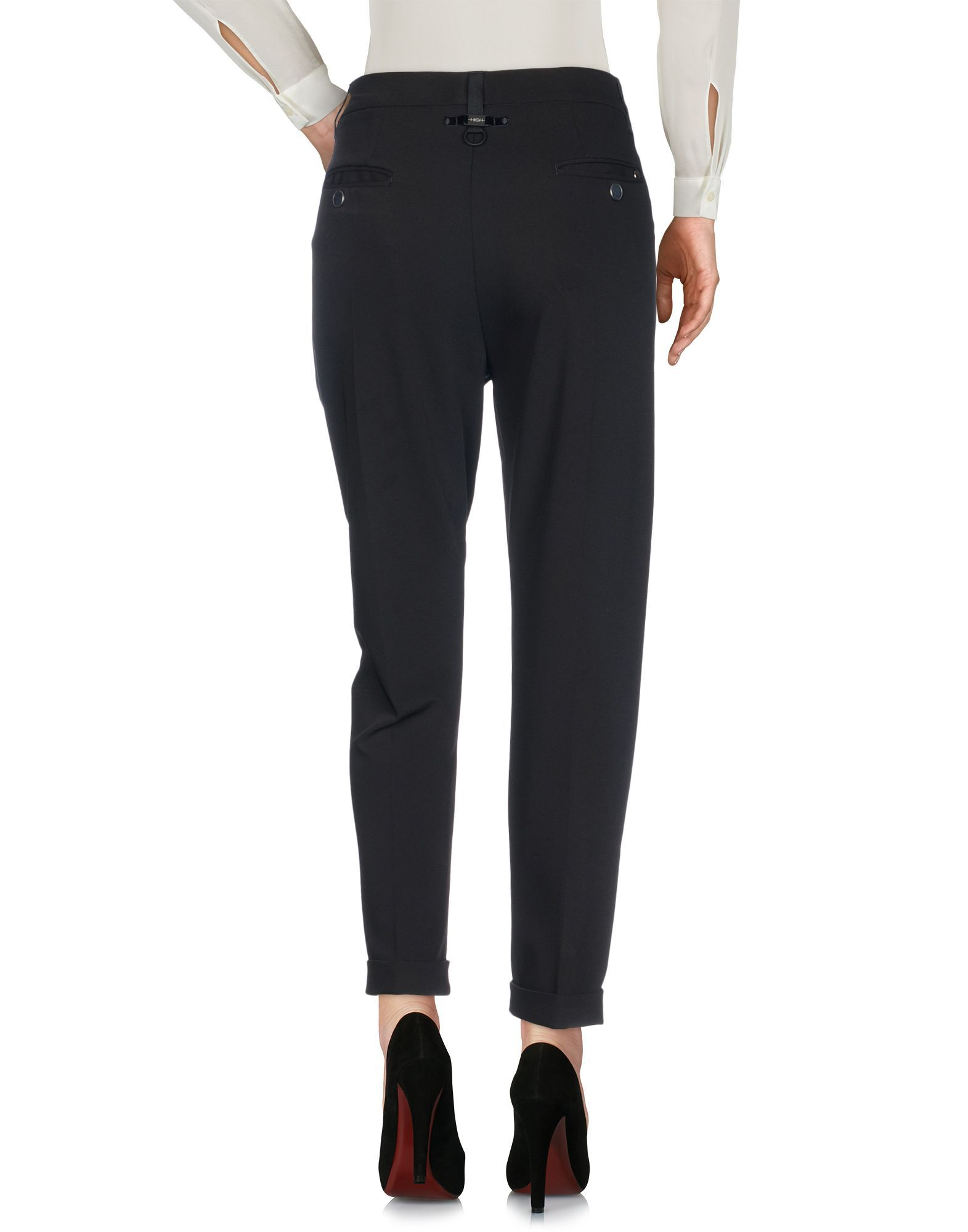 TROUSERS High By Claire Campbell Dark blue Woman Polyester