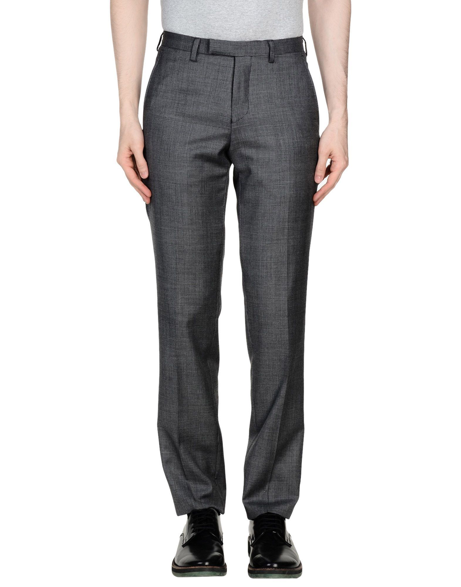 DKNY Grey Wool Tailored Straight Leg Trousers