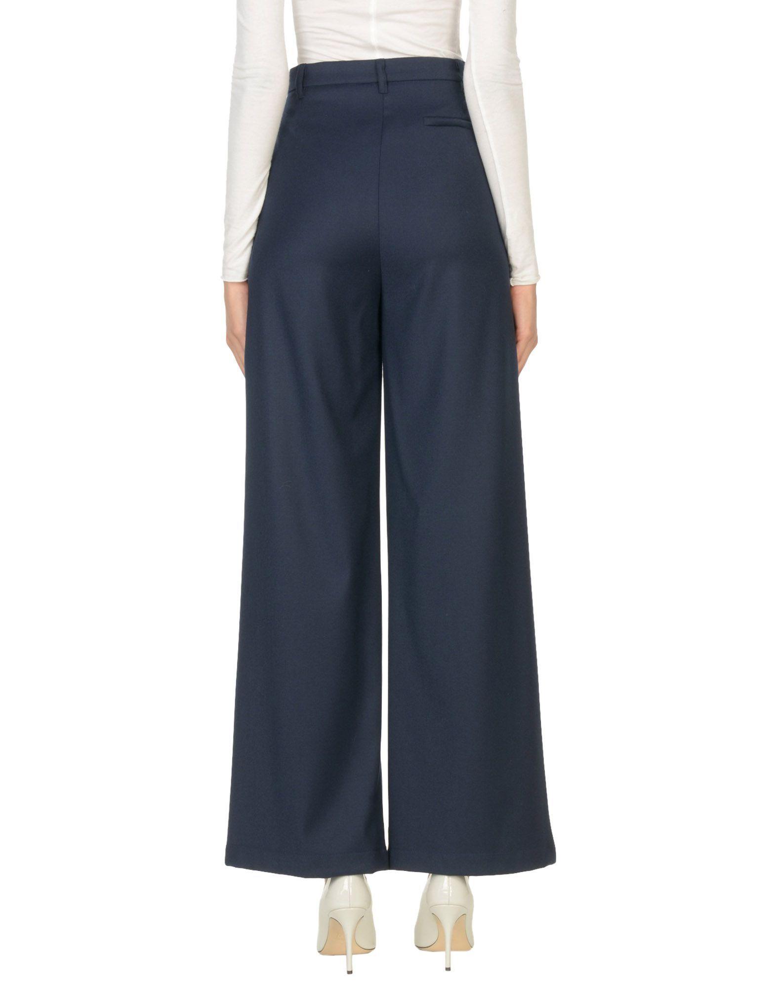 TROUSERS Semicouture Dark blue Woman Virgin Wool