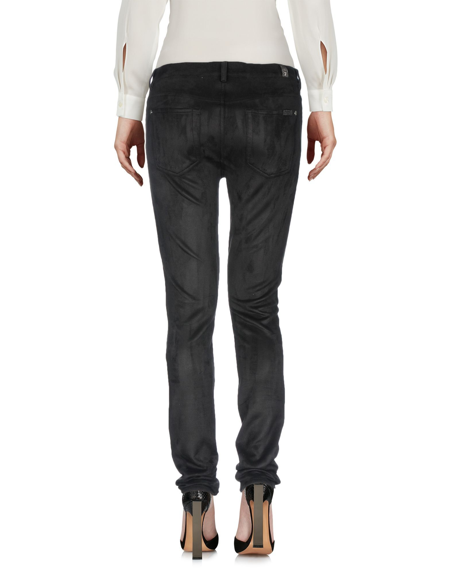 7 For All Mankind Black Slim Trousers