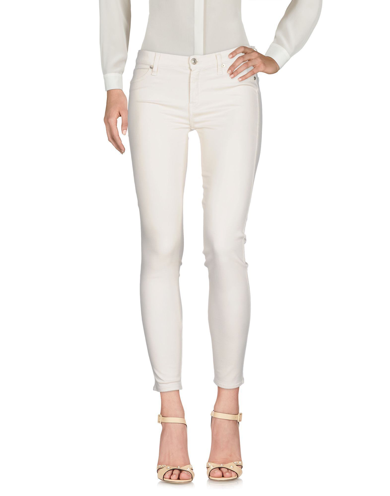 7 For All Mankind Beige Tapered Leg Trousers