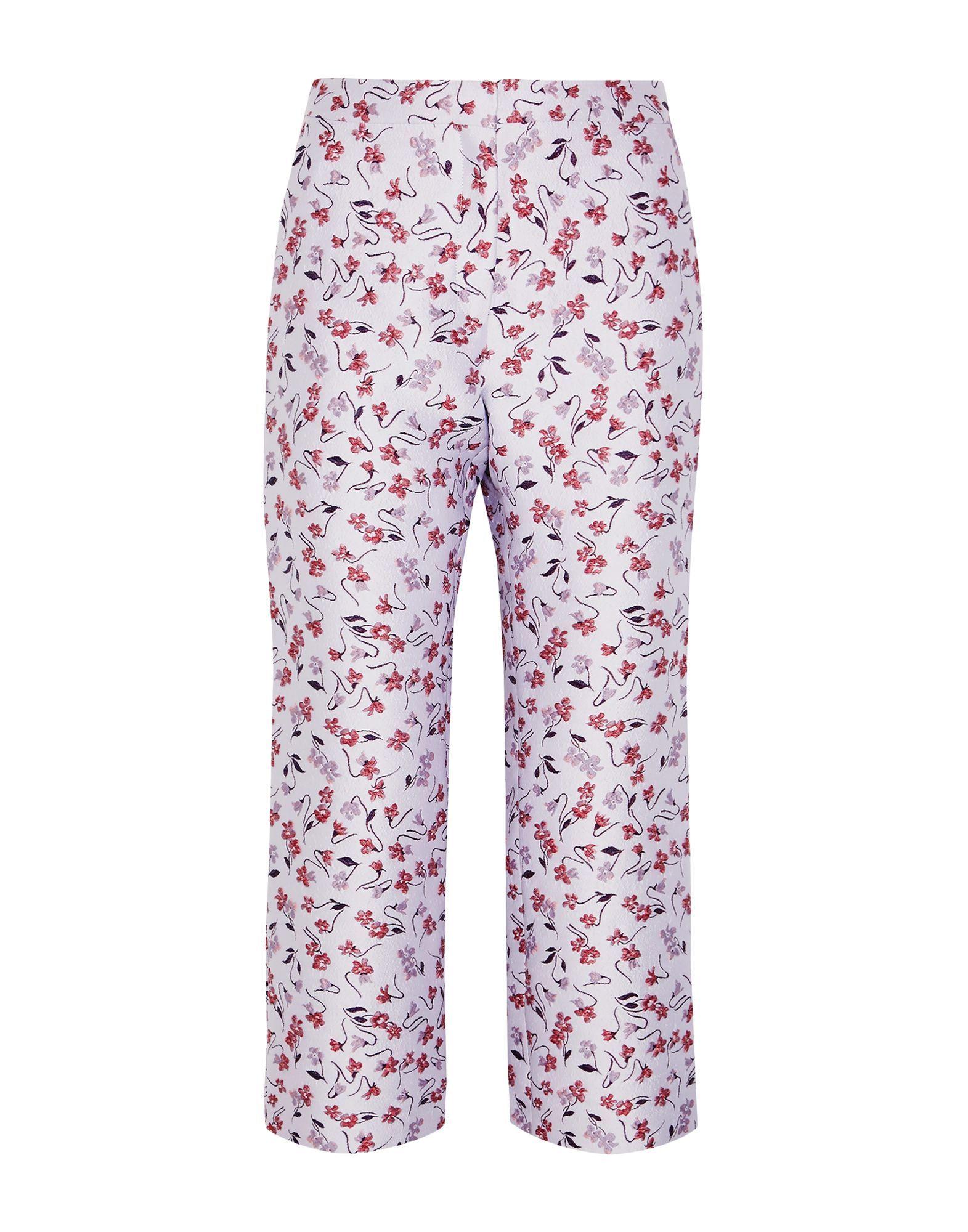 Altuzarra Lilac Floral Jacquard Tailored Trousers