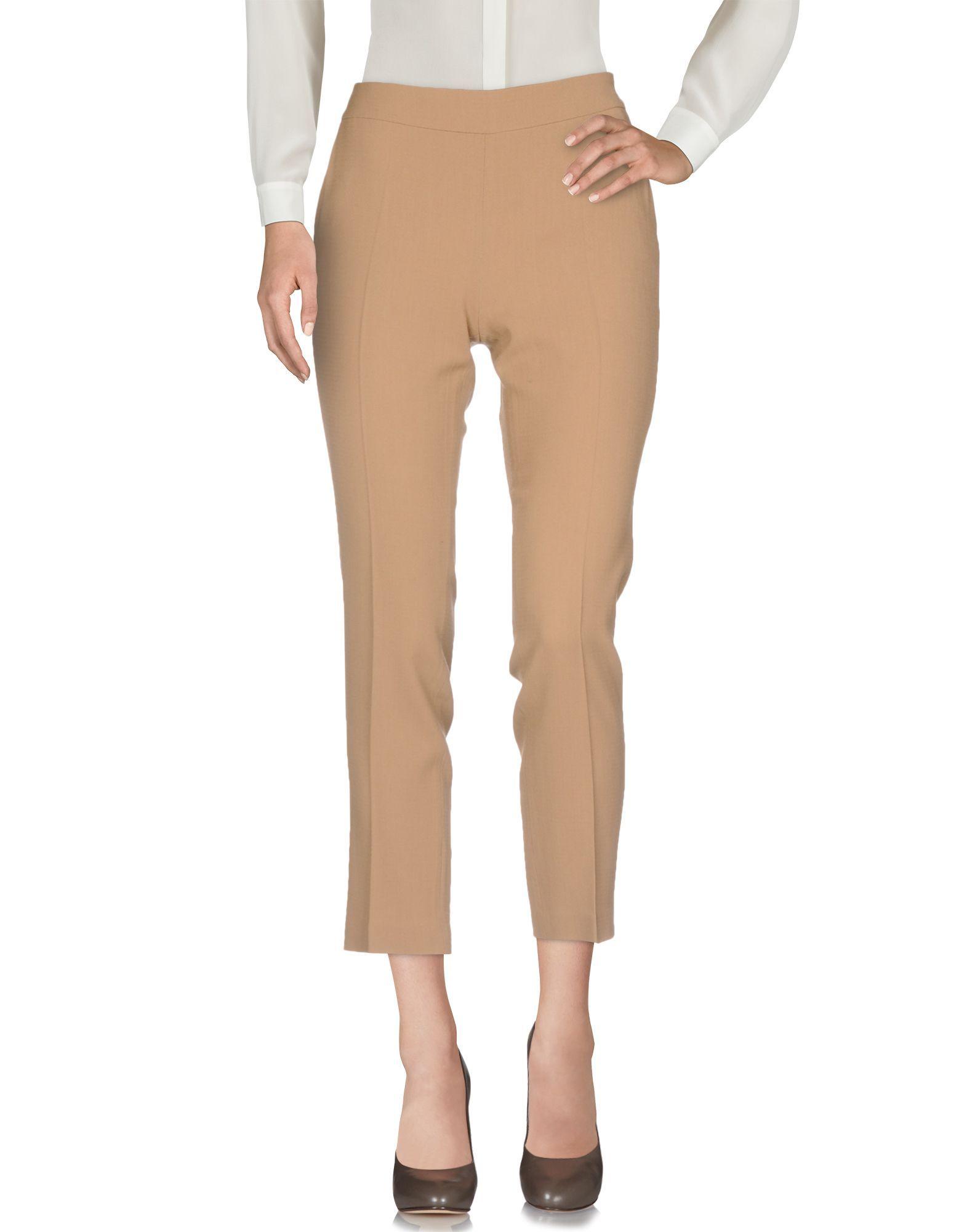 Trousers Scervino Street Camel Women's Virgin Wool