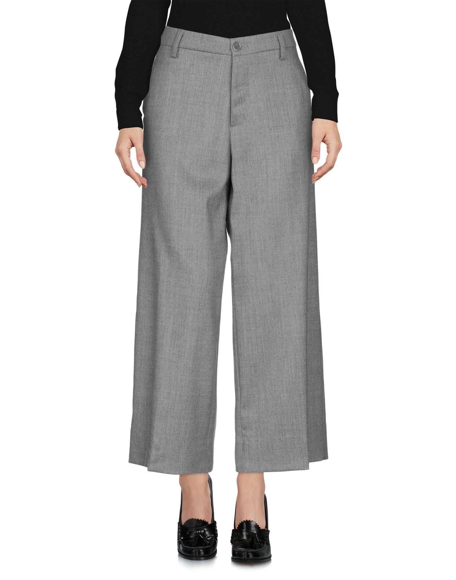 TROUSERS European Culture Light grey Woman Virgin Wool