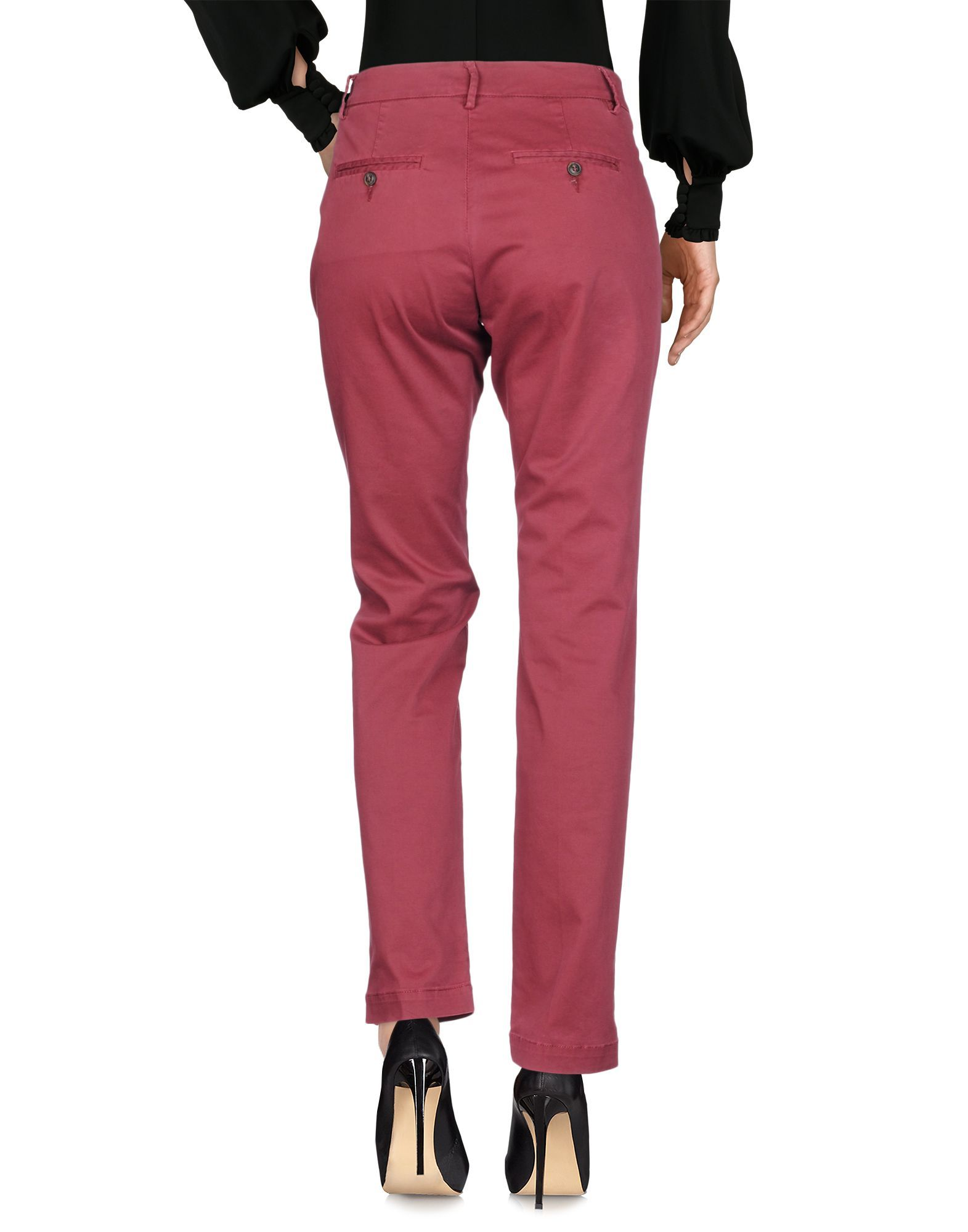 TROUSERS Woman Roÿ Roger'S Maroon Cotton