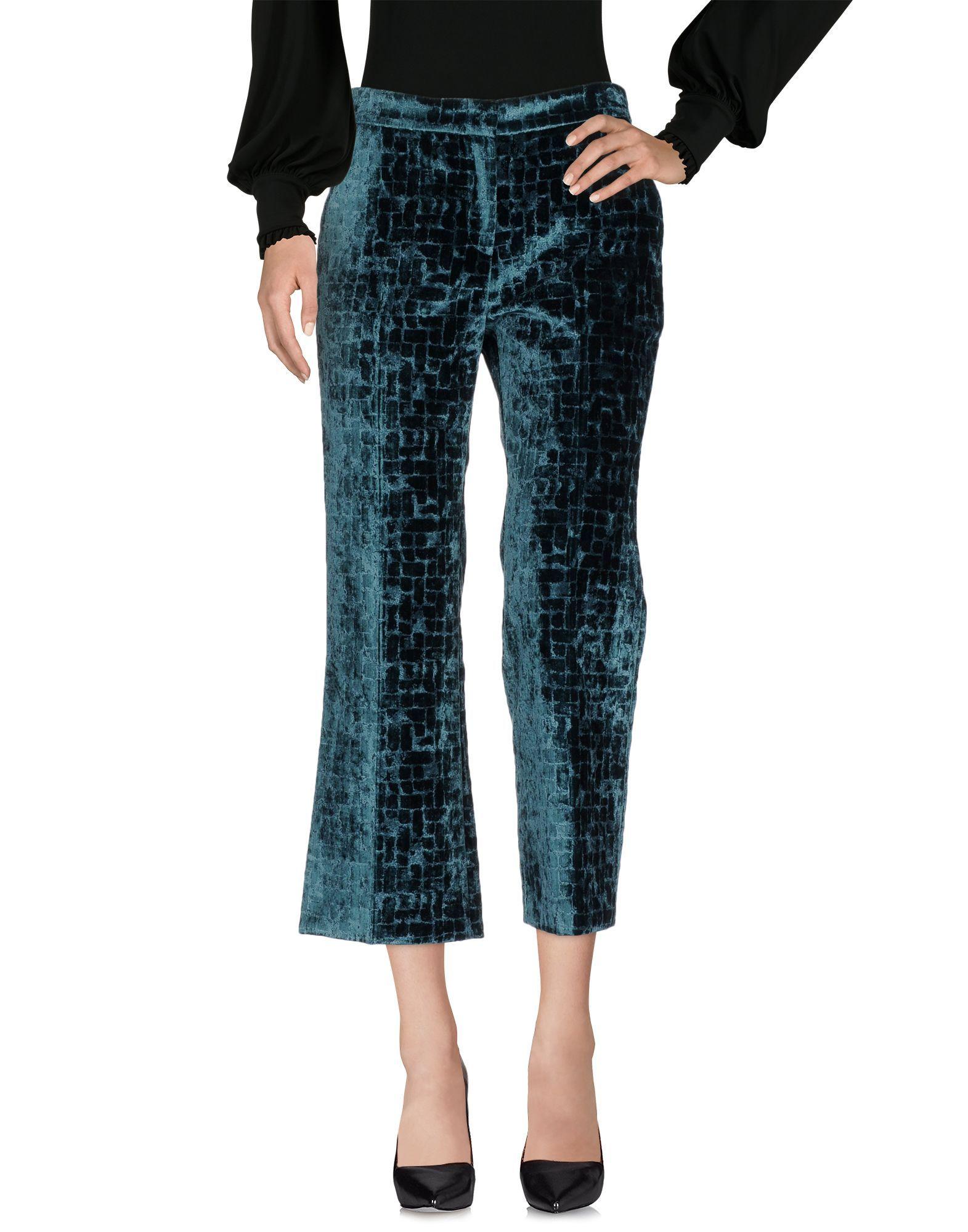 L' Autre Chose Green Velvet Trousers