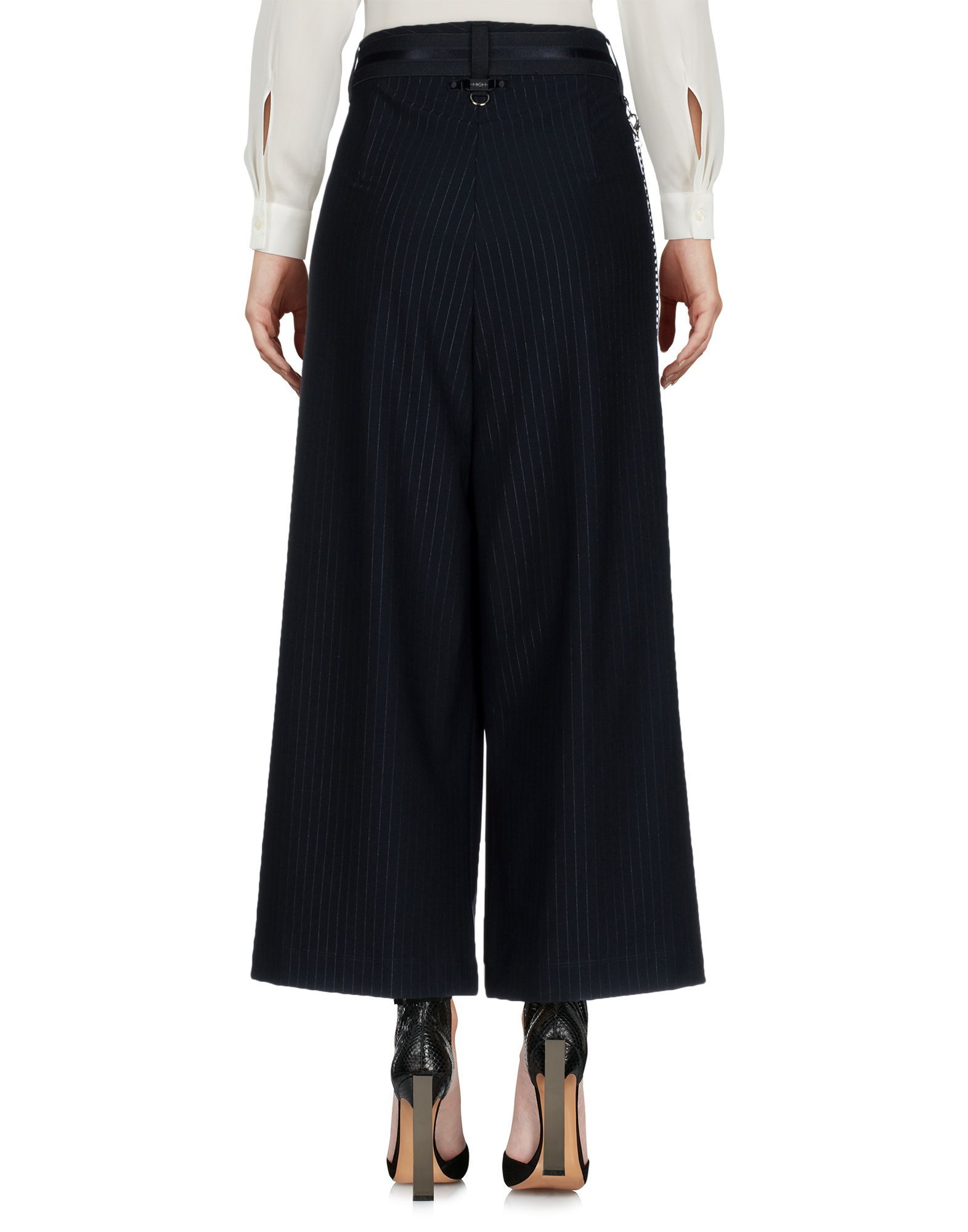Trousers High By Claire Campbell Dark Blue Women's Nylon