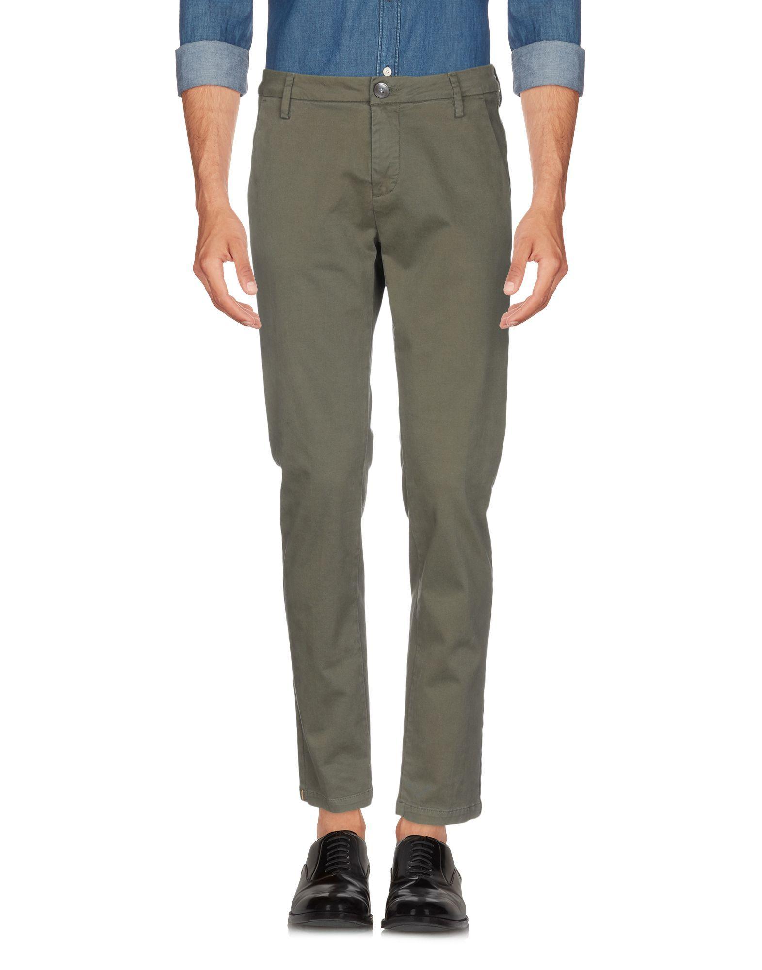 TROUSERS Aglini Military green Man Cotton