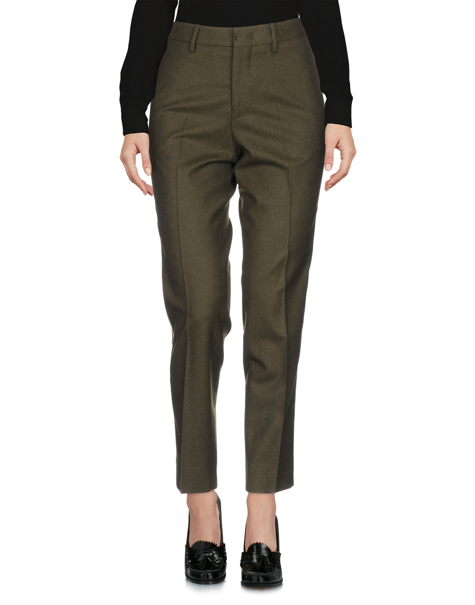 PT01 Military Green Virgin Wool Tailored Trousers