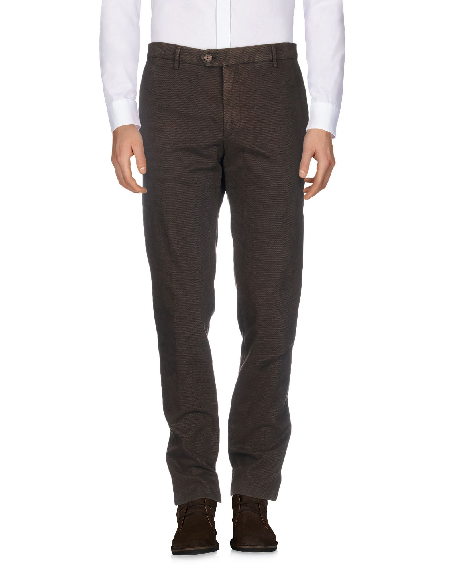 TROUSERS Maestrami Dark brown Man Cotton