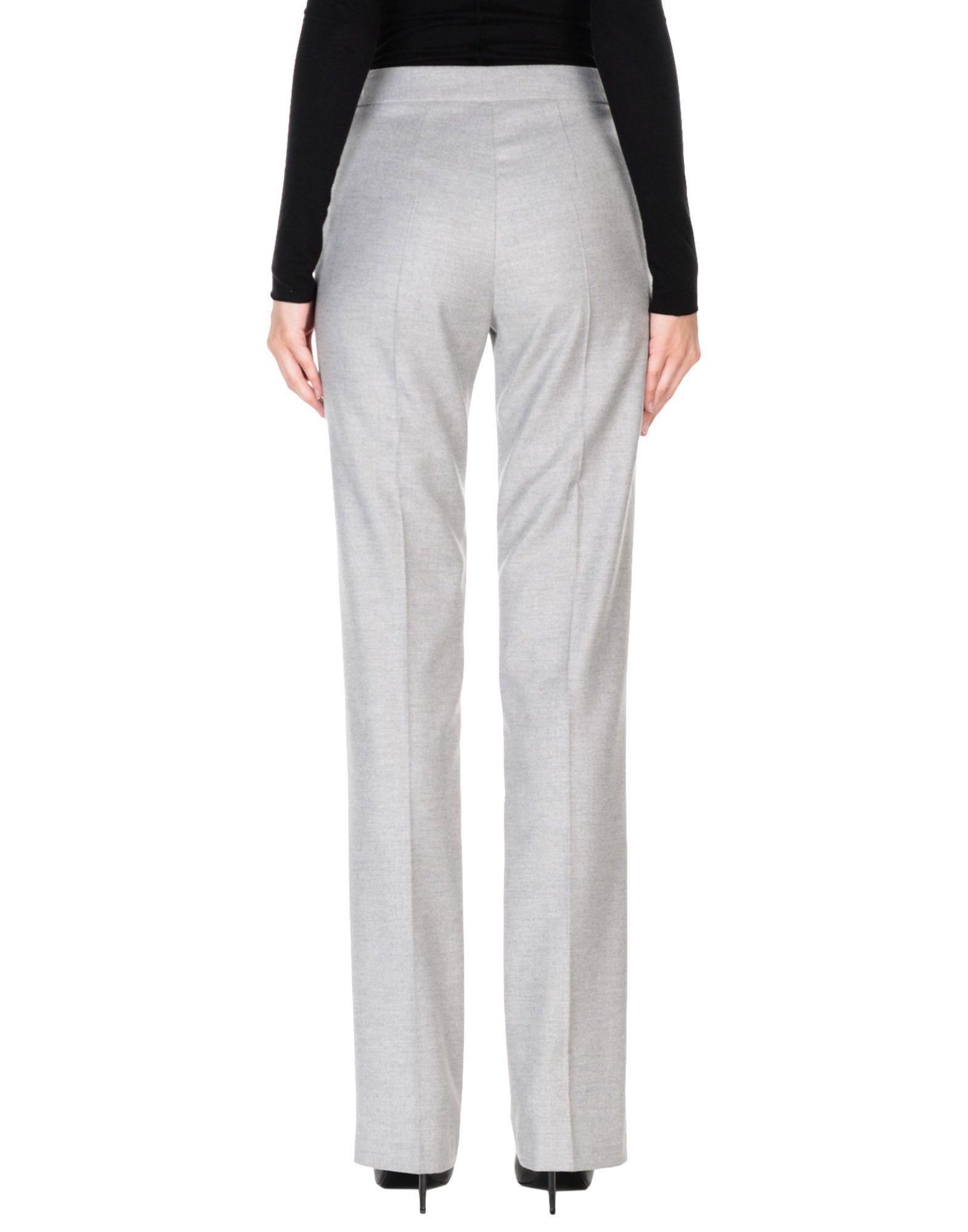 Blumarine Light Grey Wool High Waisted Trousers