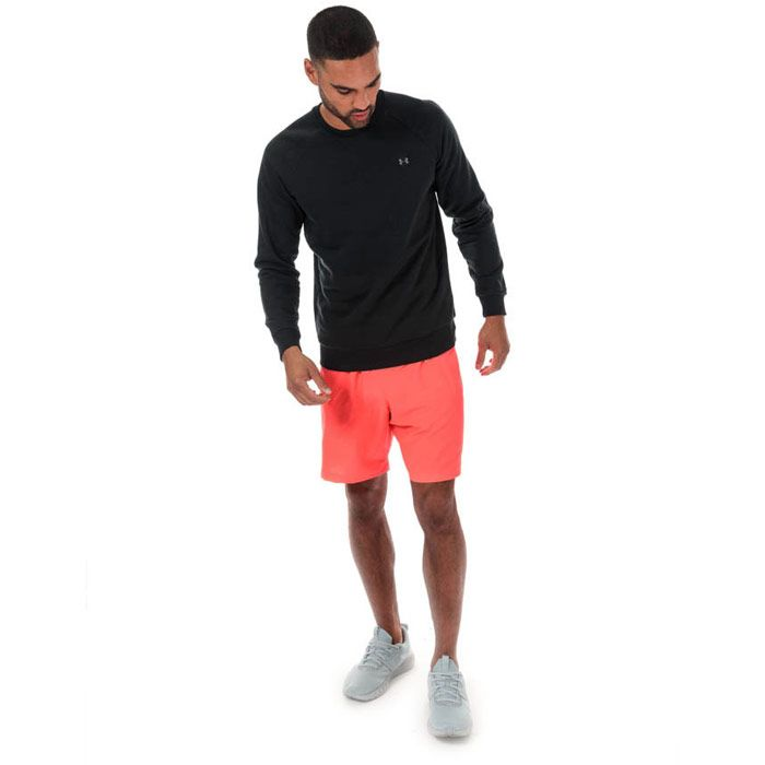 Men's Under Armour Rival Fleece Crew Sweat in Black