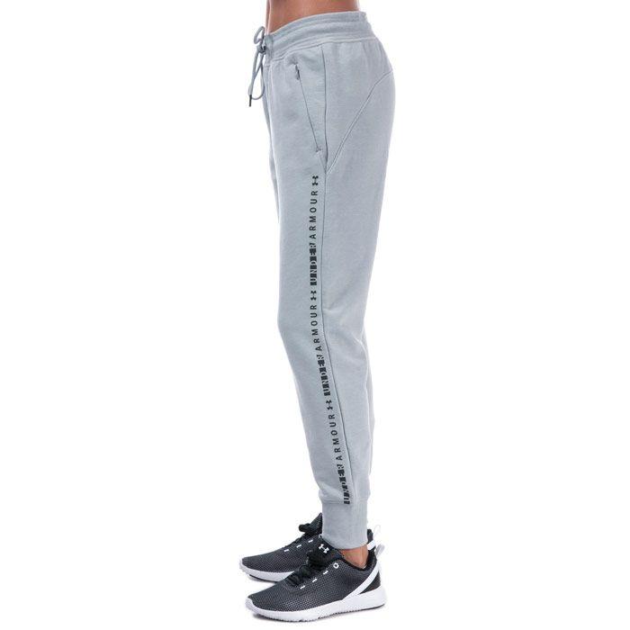 Women's Under Armour Microthread Fleece Pants in Light Grey