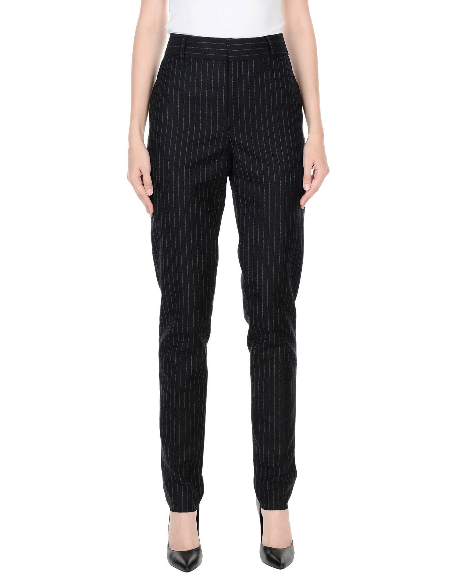 Saint Laurent Black Wool Tailored Trousers