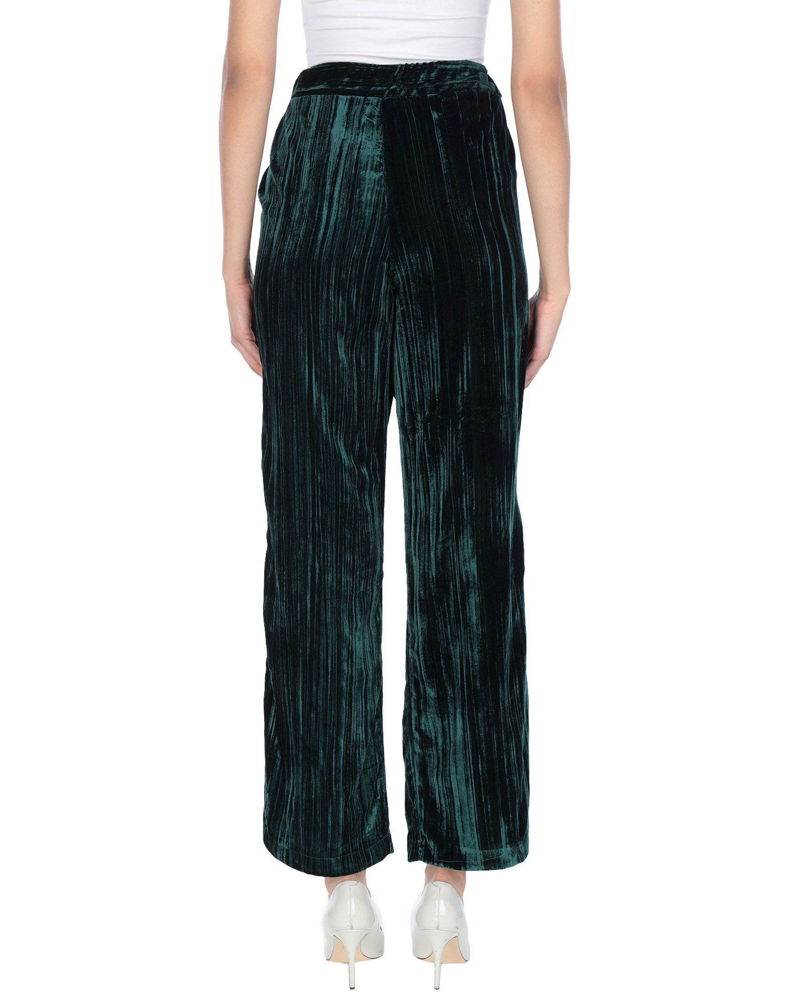 TROUSERS Vicolo Dark green Woman Viscose