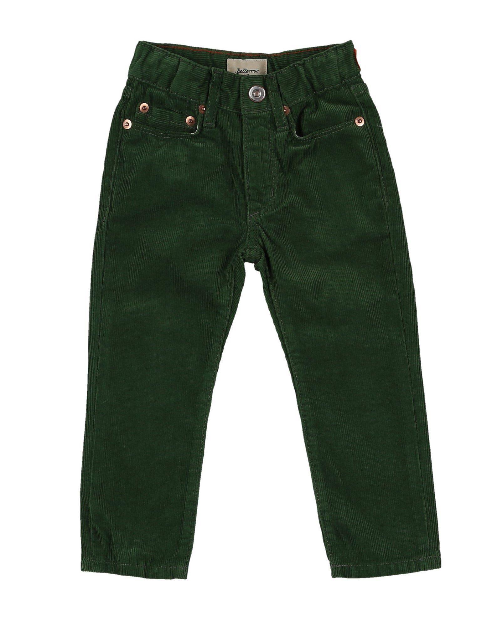 TROUSERS Bellerose Green Boy Cotton