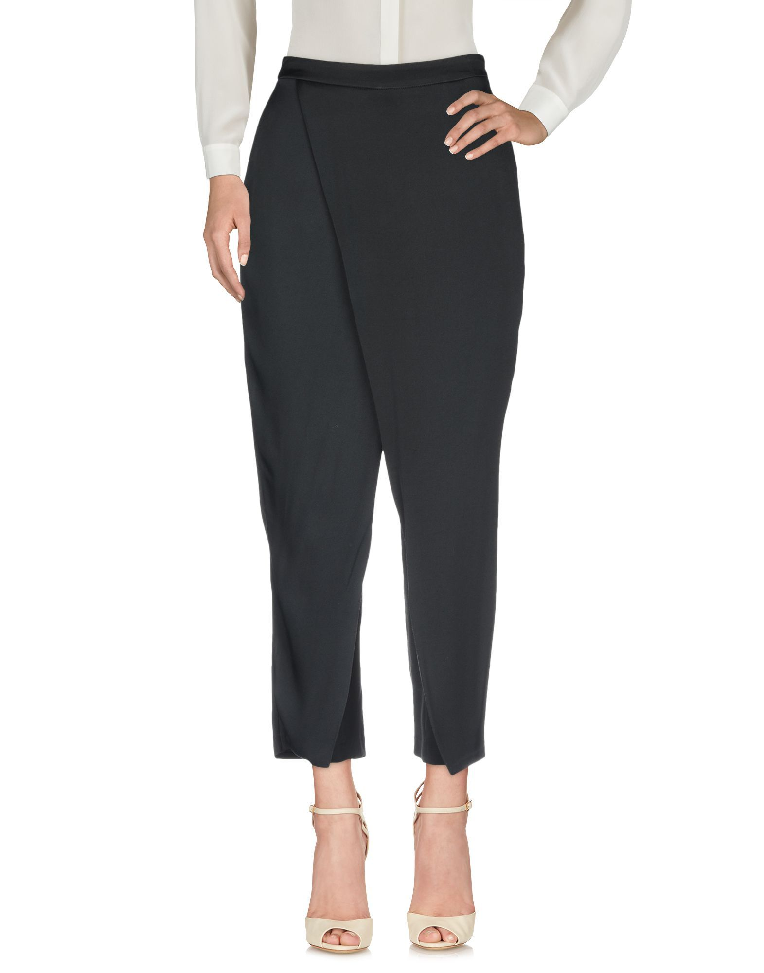 Trousers Federica Tosi Black Women's Acetate