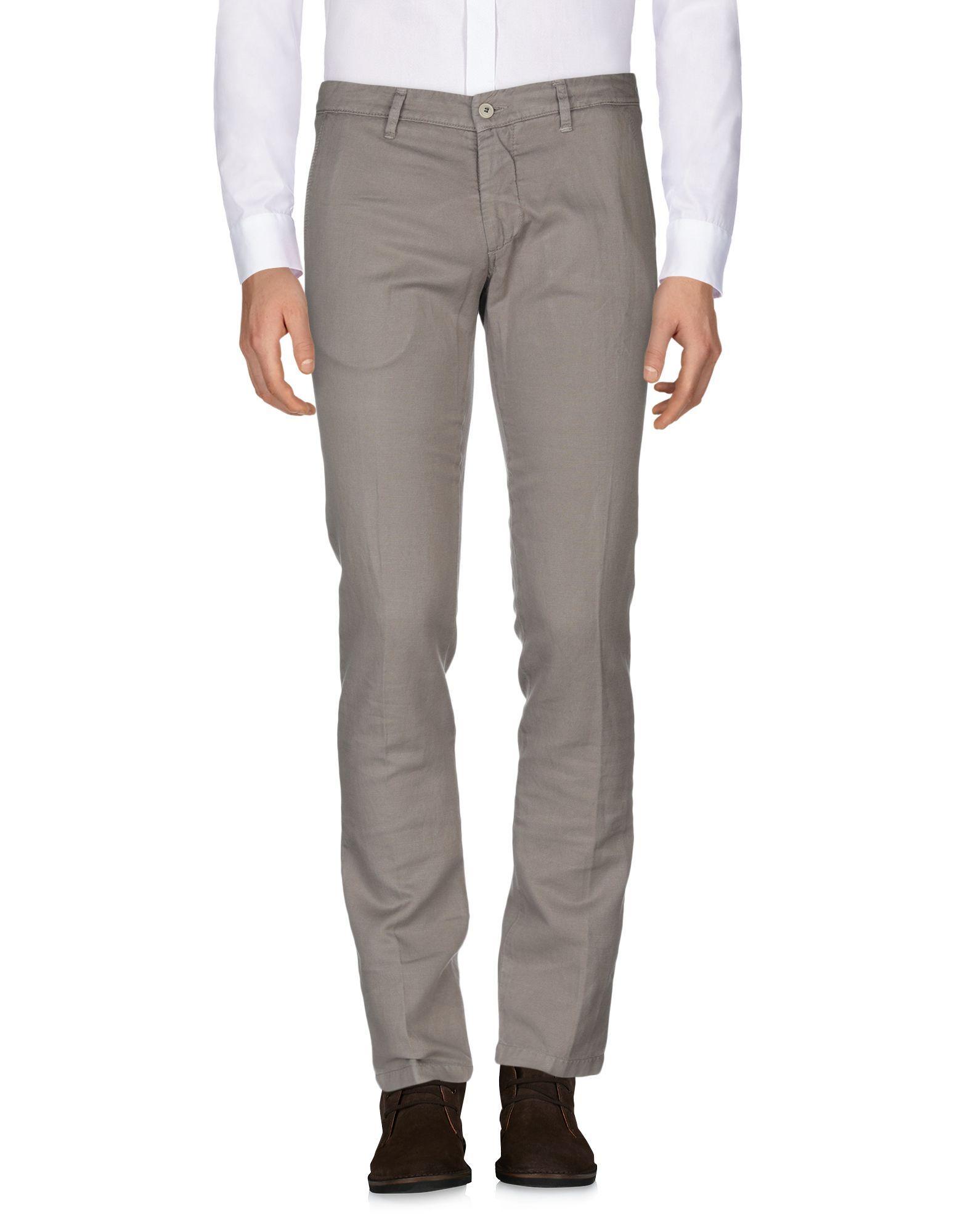 Massimo Rebecchi Khaki Linen Chino Trousers